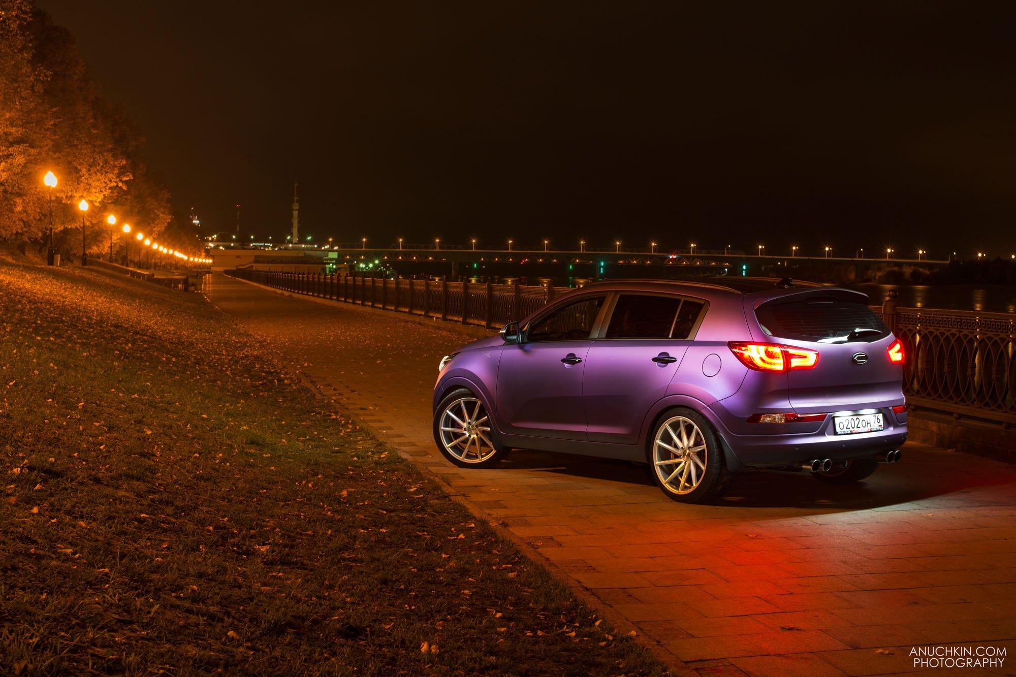 Custom Kia Sportage Featuring Matte Purple Paint