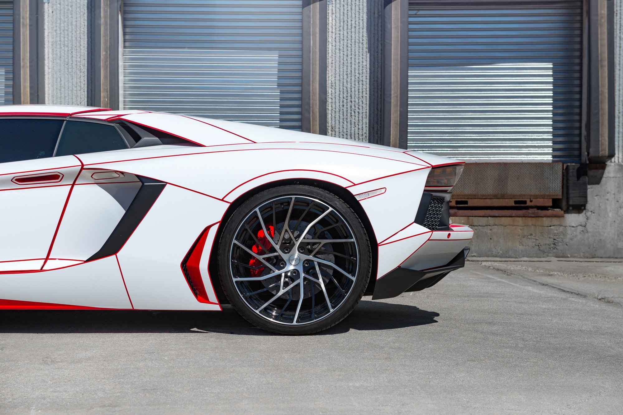 Red And White Obsession Custom Painted Lamborghini Aventador On