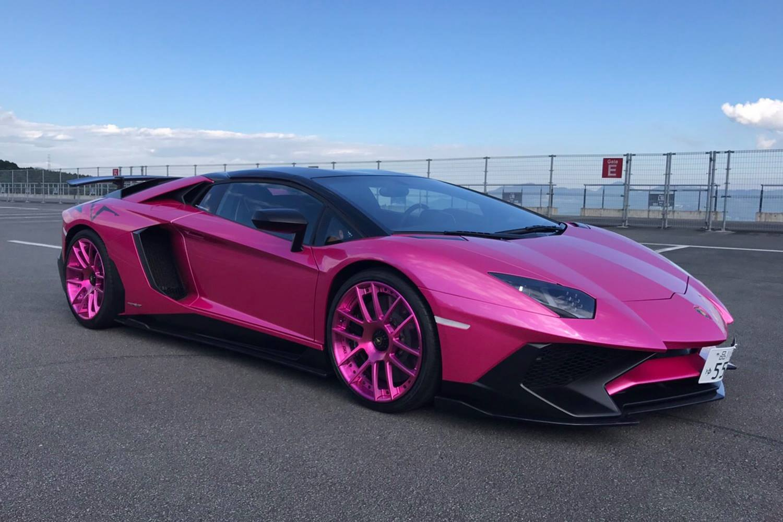 Pink Lamborghini Aventador With Aftermarket Body Kit Photo By Forgiato