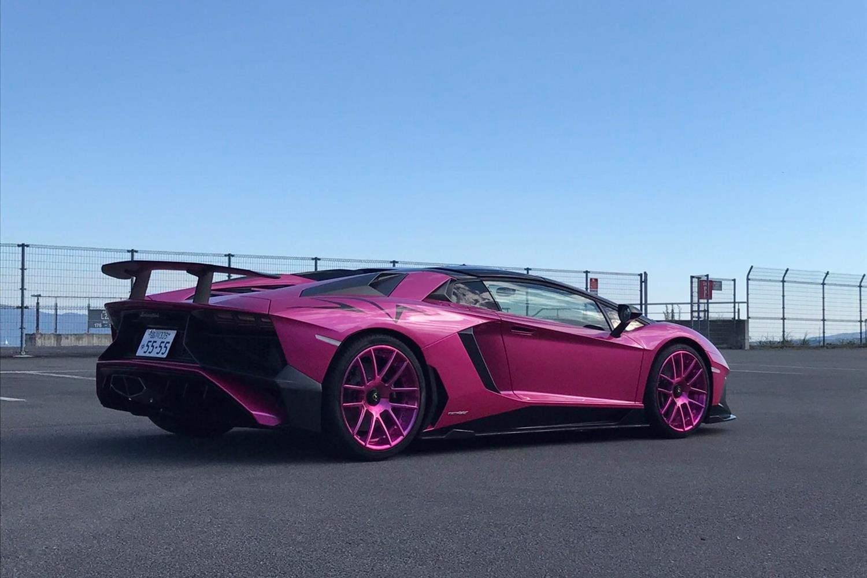 Large Wing Spoiler On Pink Lamborghini Aventador Photo By Forgiato