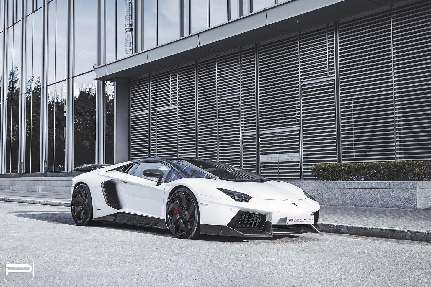 Nice and Proper Aero Kit for White Lamborghini Aventador ...