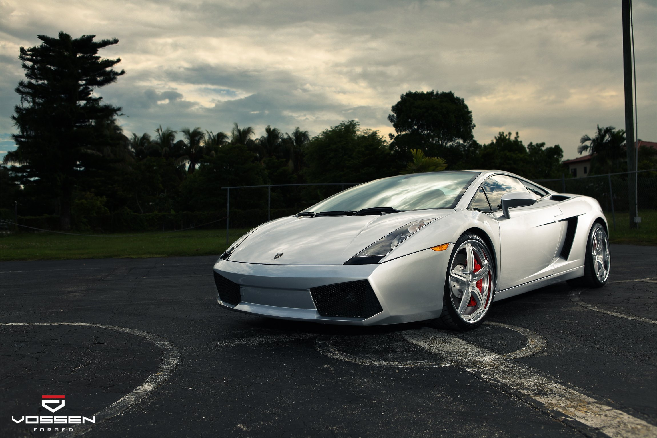 Sleek Custom Silver Lamborghini Gallardo On Colormatched Vossen