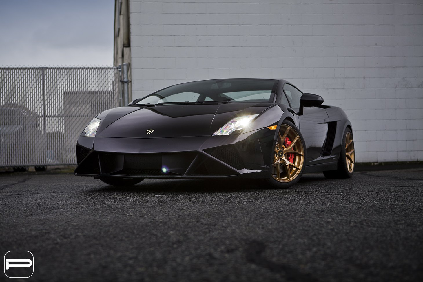 Crystal Clear Headlights On Black Lamborghini Gallardo   Photo By PUR Wheels