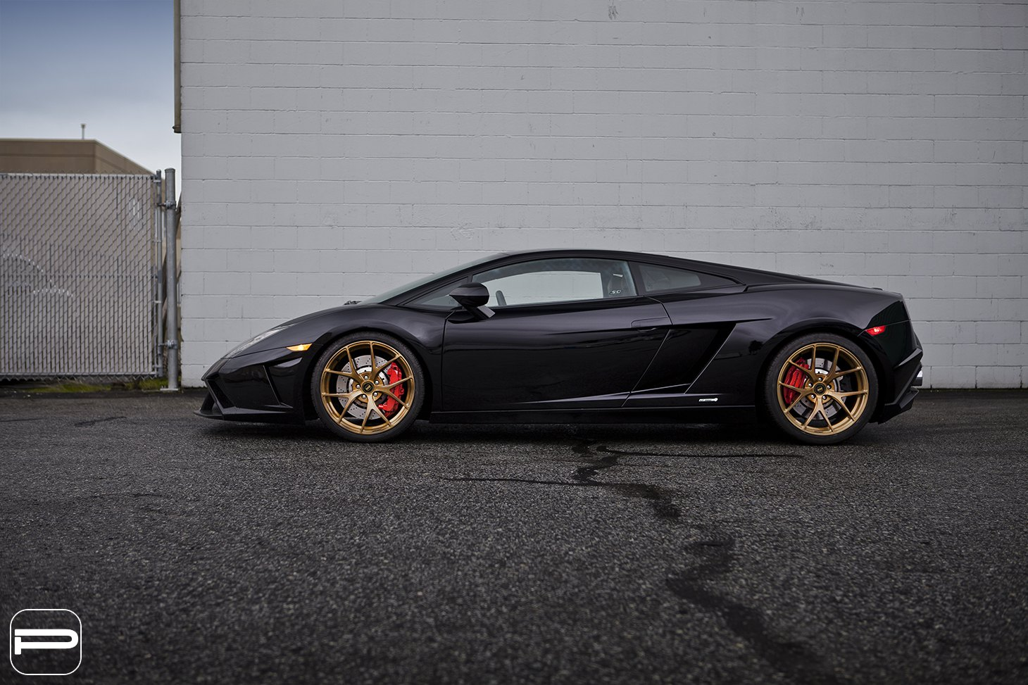 Custom Black Lamborghini Gallardo Side Scoops   Photo By PUR Wheels