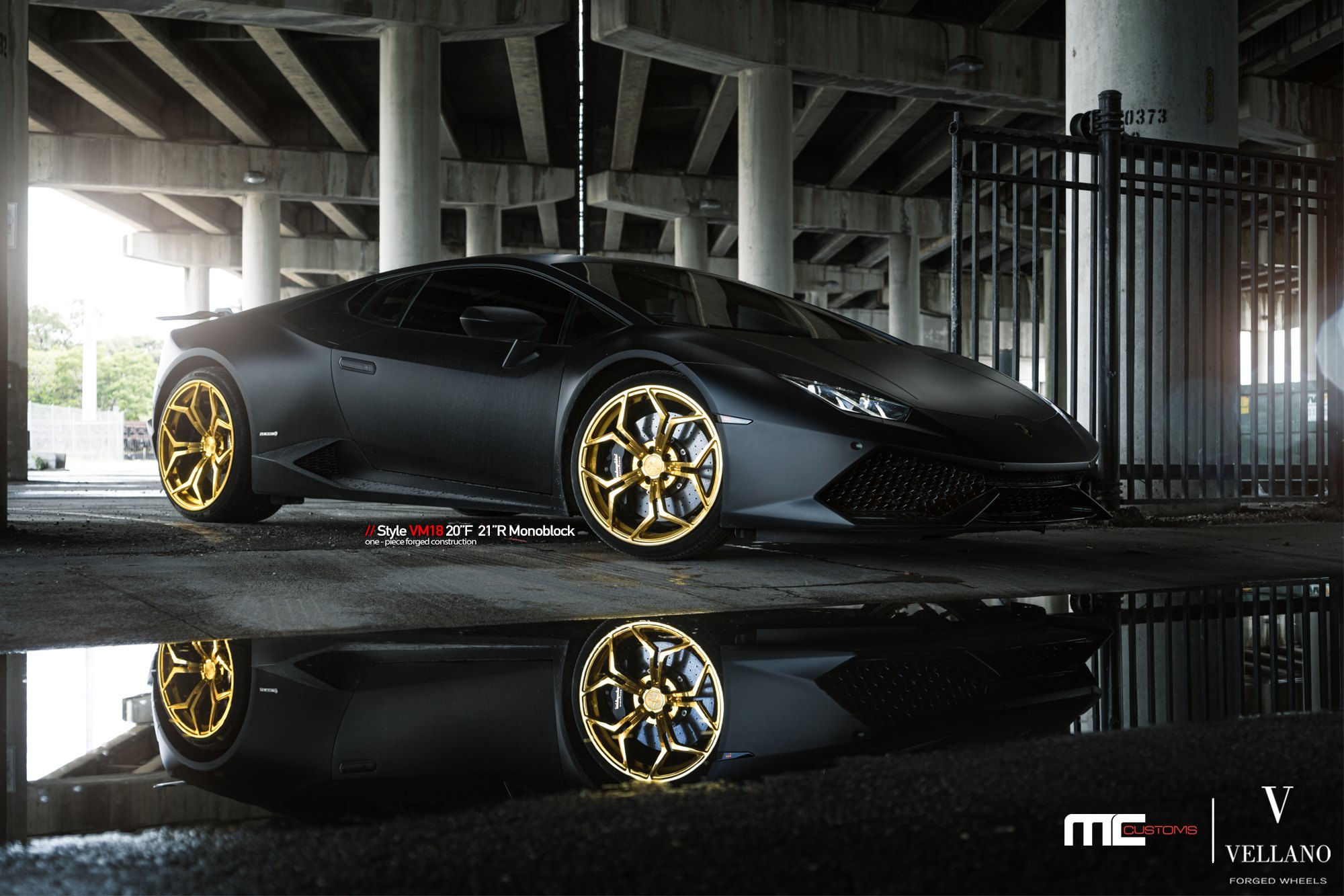 Beast Revealed Black Huracan With Led Headlights And Gold Wheels