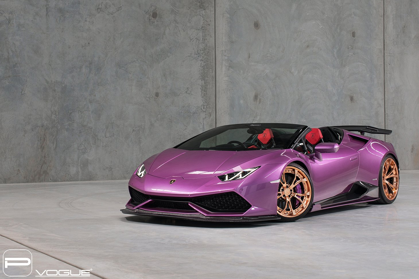Lambo Show Stopper Purple Huracan On Gold Pur Wheels Carid Com