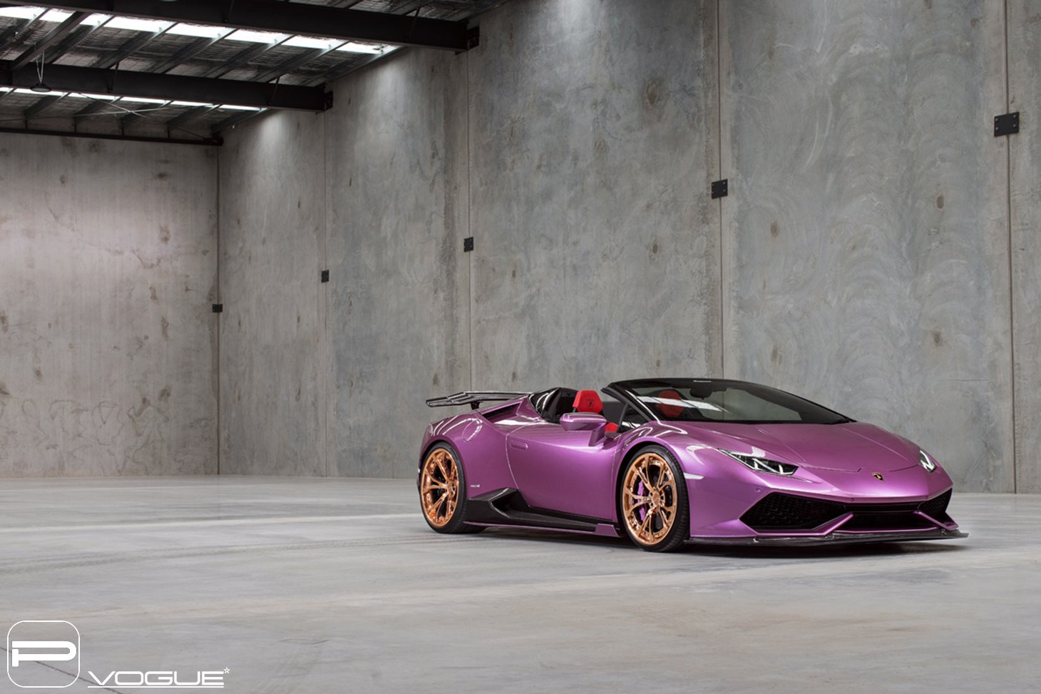 Lambo Show Stopper Purple Huracan On Gold Pur Wheels Carid Com
