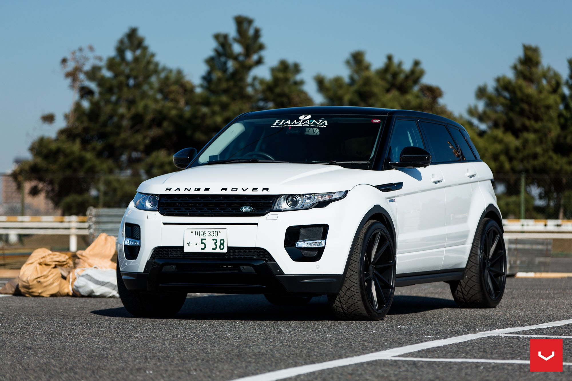 White Range Rover Evoque With A Wide Stance By Vossen Gallery
