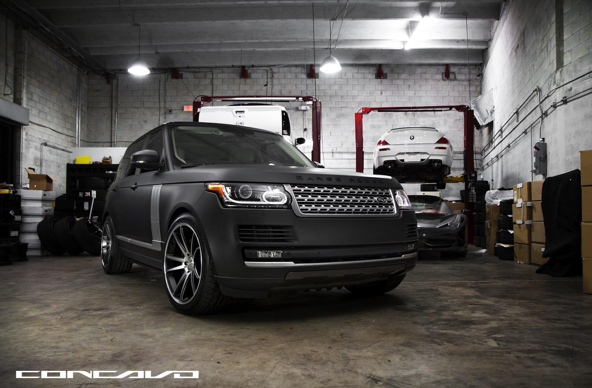 Pure Luxury Matte Black Range Rover Vogue By Concavo Carid Com