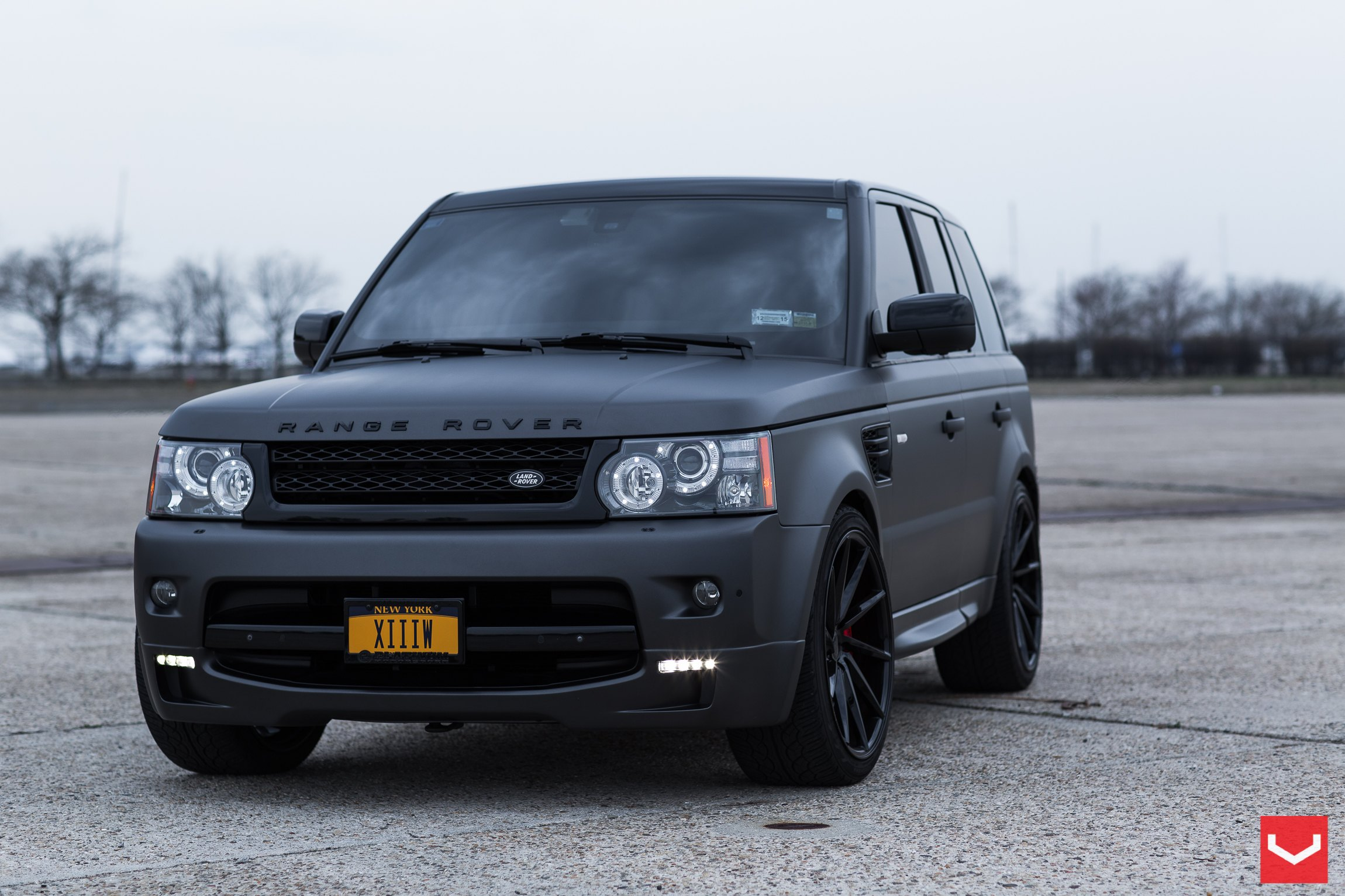 Black On Black Matte Land Rover Range Rover Sport With