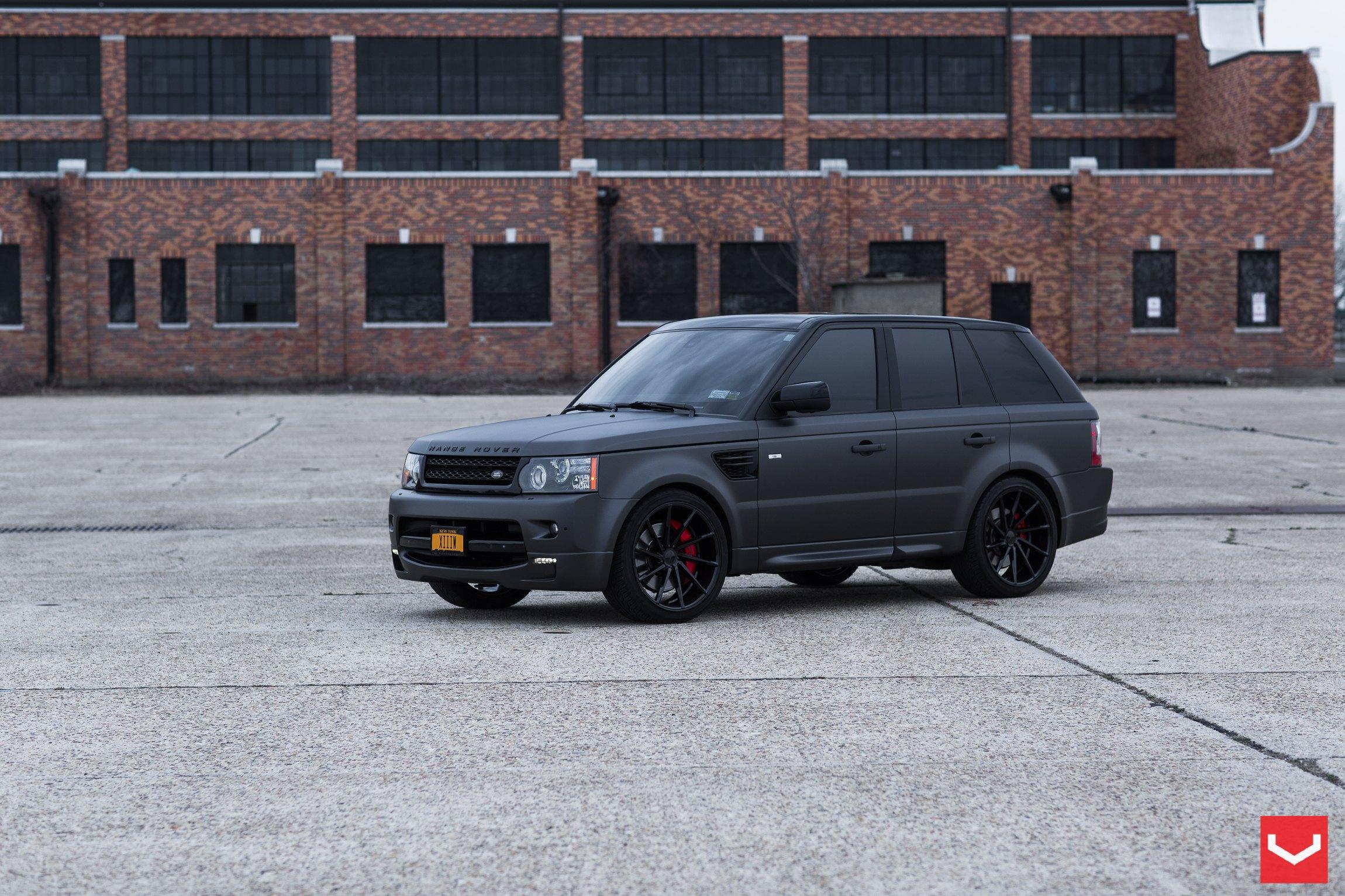Black On Black Matte Land Rover Range Rover Sport With