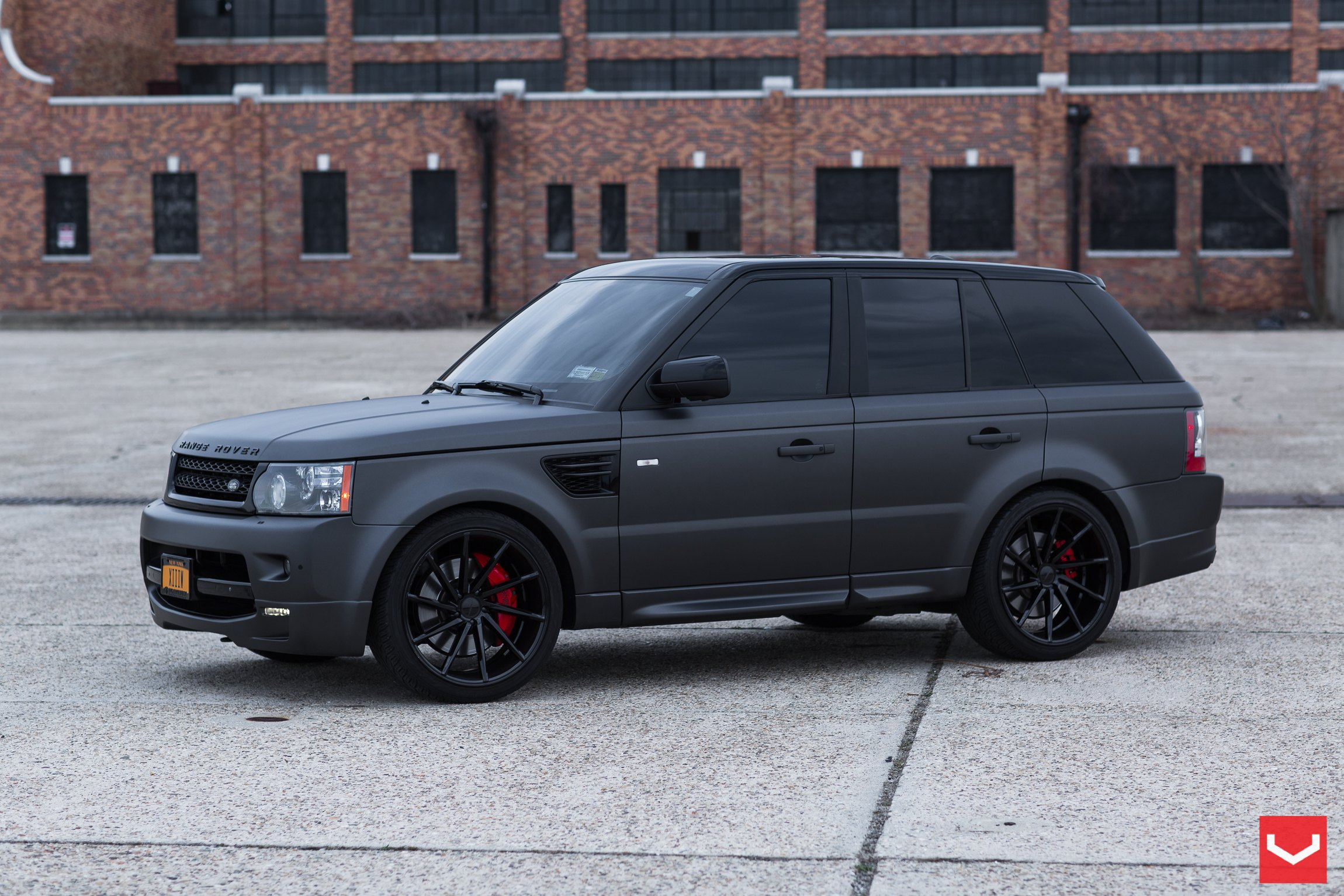 Range Rover Matte Black >> Black On Black Matte Land Rover Range Rover Sport With Custom Rims