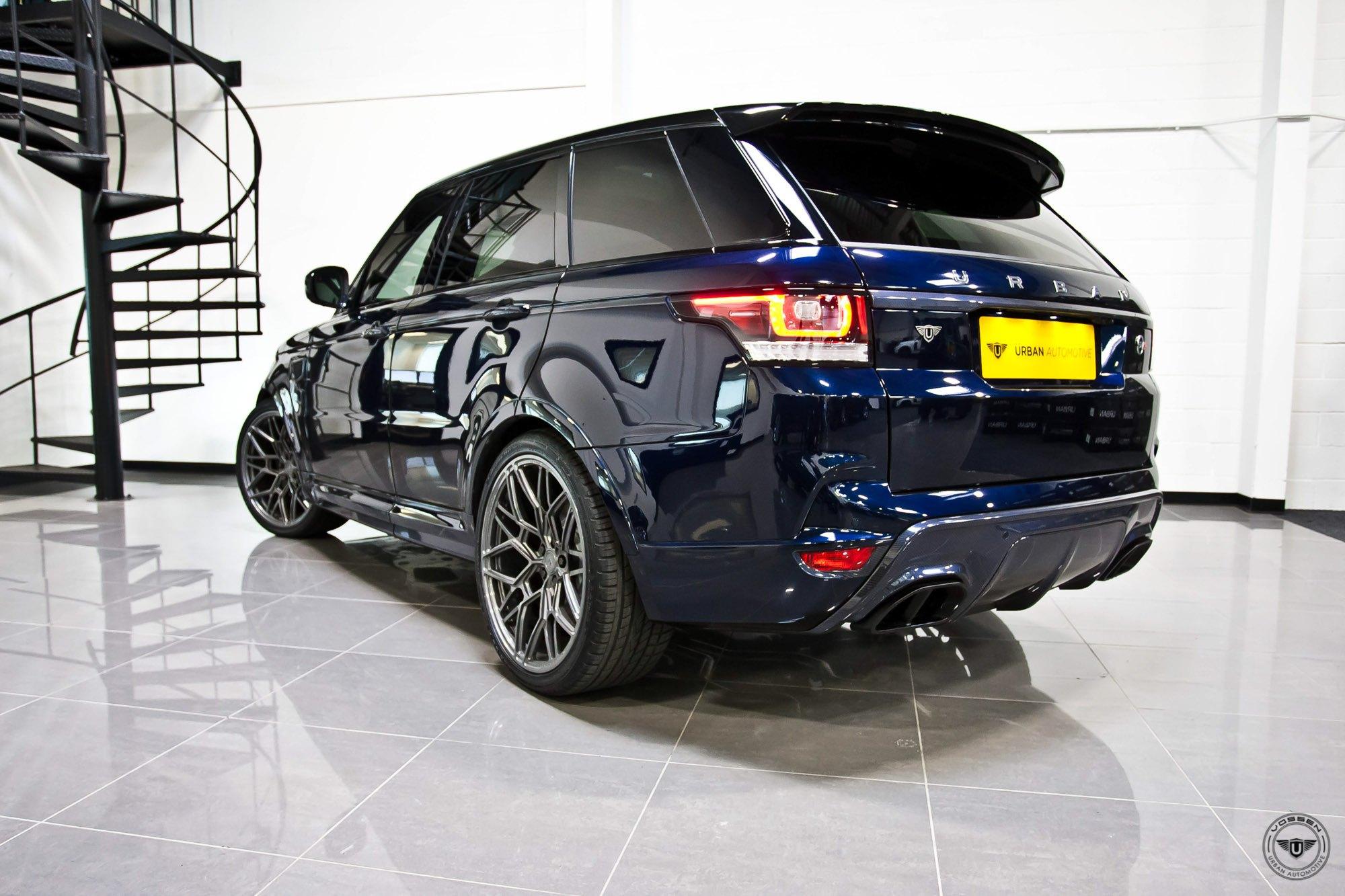 Blue range rover sport charcoal forged vossen wheels for Land rover tarbes garage moderne