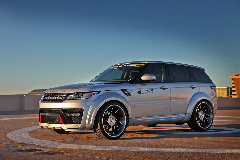 prior design take on silver debadged range rover sport  u2014 carid com gallery