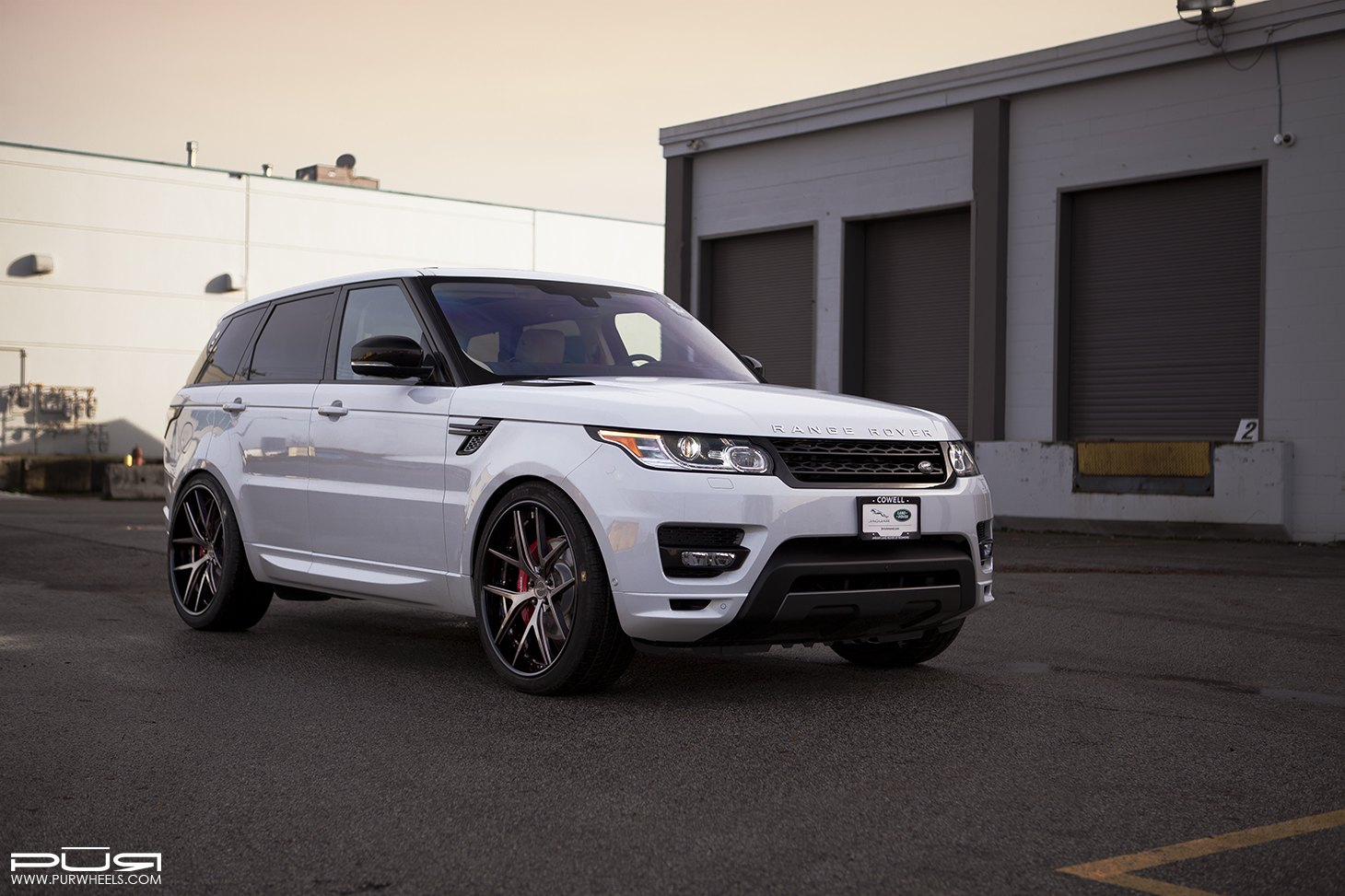 white range rover sport shod in gunmetal pur rims carid. Black Bedroom Furniture Sets. Home Design Ideas