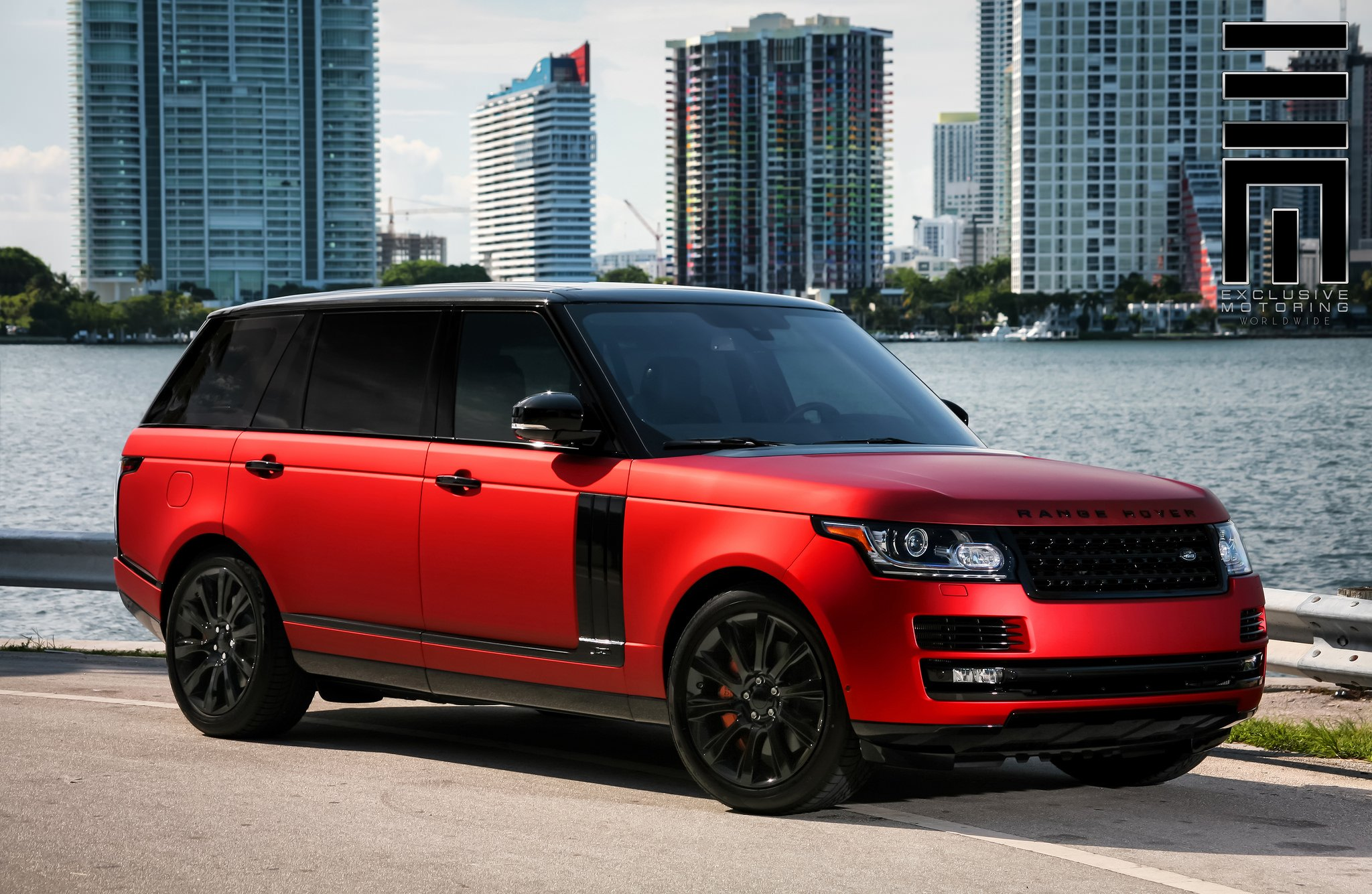 Red Matte Range Rover on Black Wheels by Exclusive ...