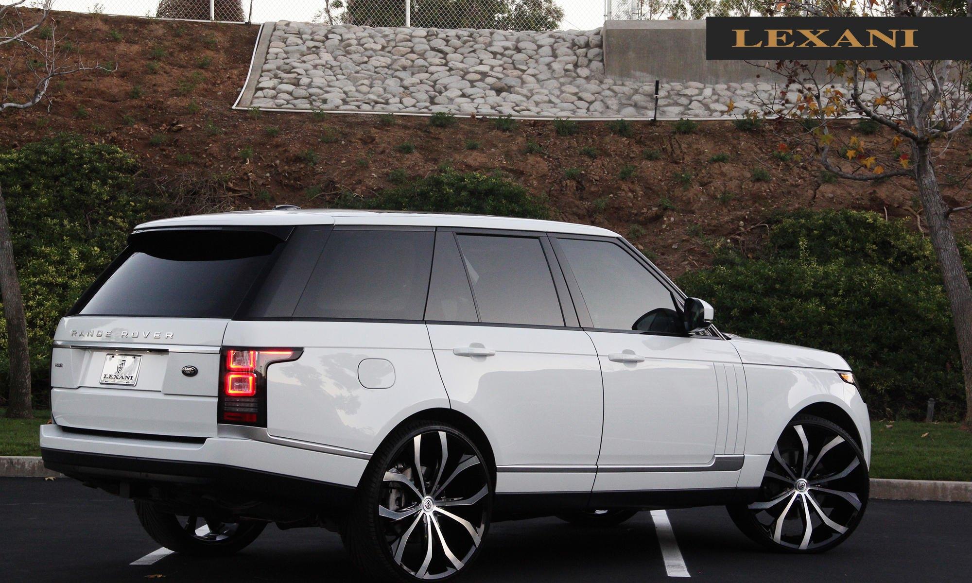 deluxe white range rover on a set of custom rims carid. Black Bedroom Furniture Sets. Home Design Ideas