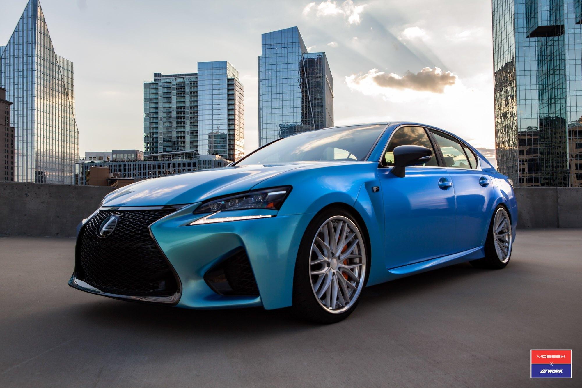 Chameleon Blue Wrapped Lexus Gs F By Vossen X Work Carid