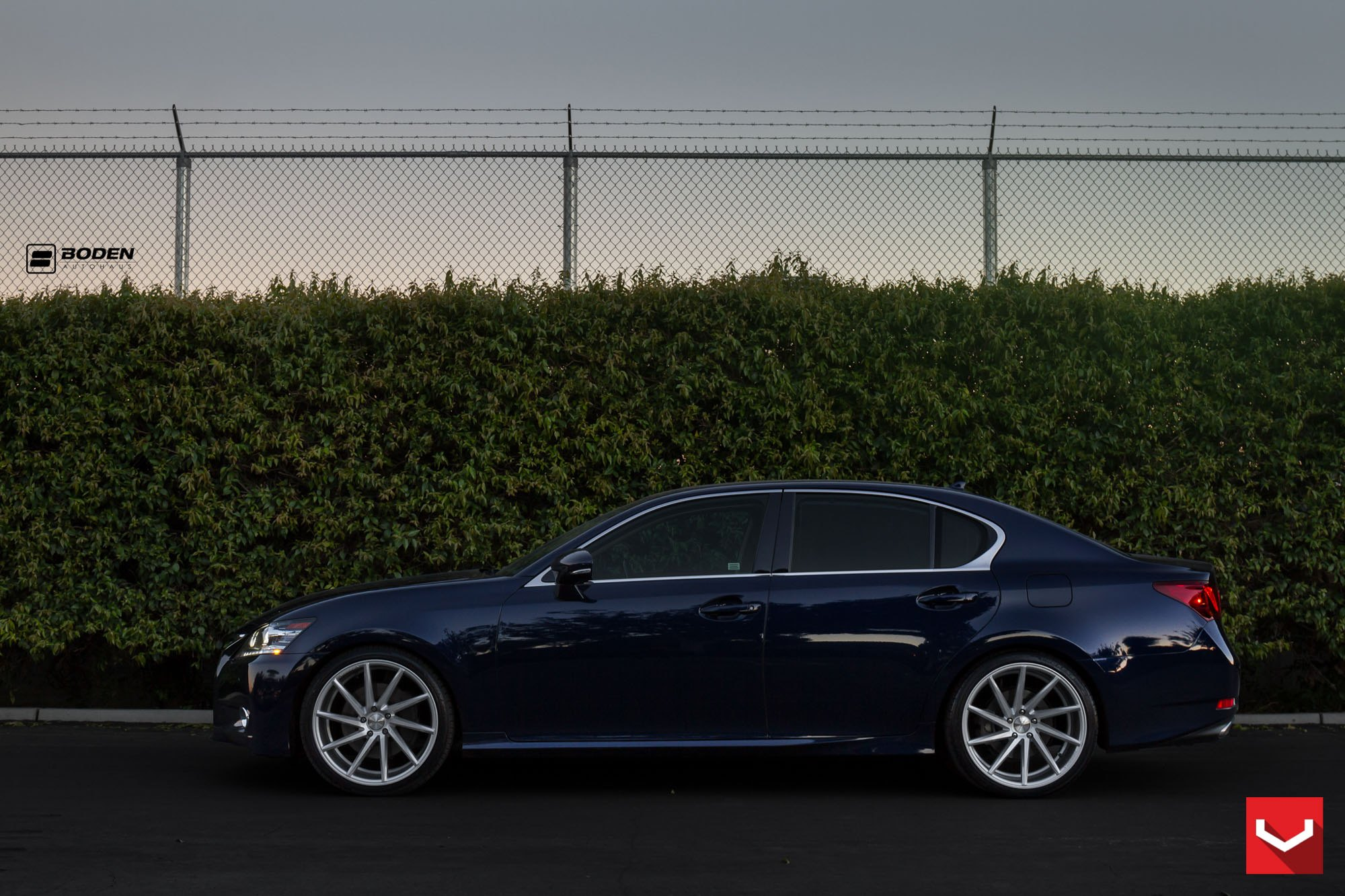 Chrome CVT Wheels on Lexus GS - Photo by Vossen