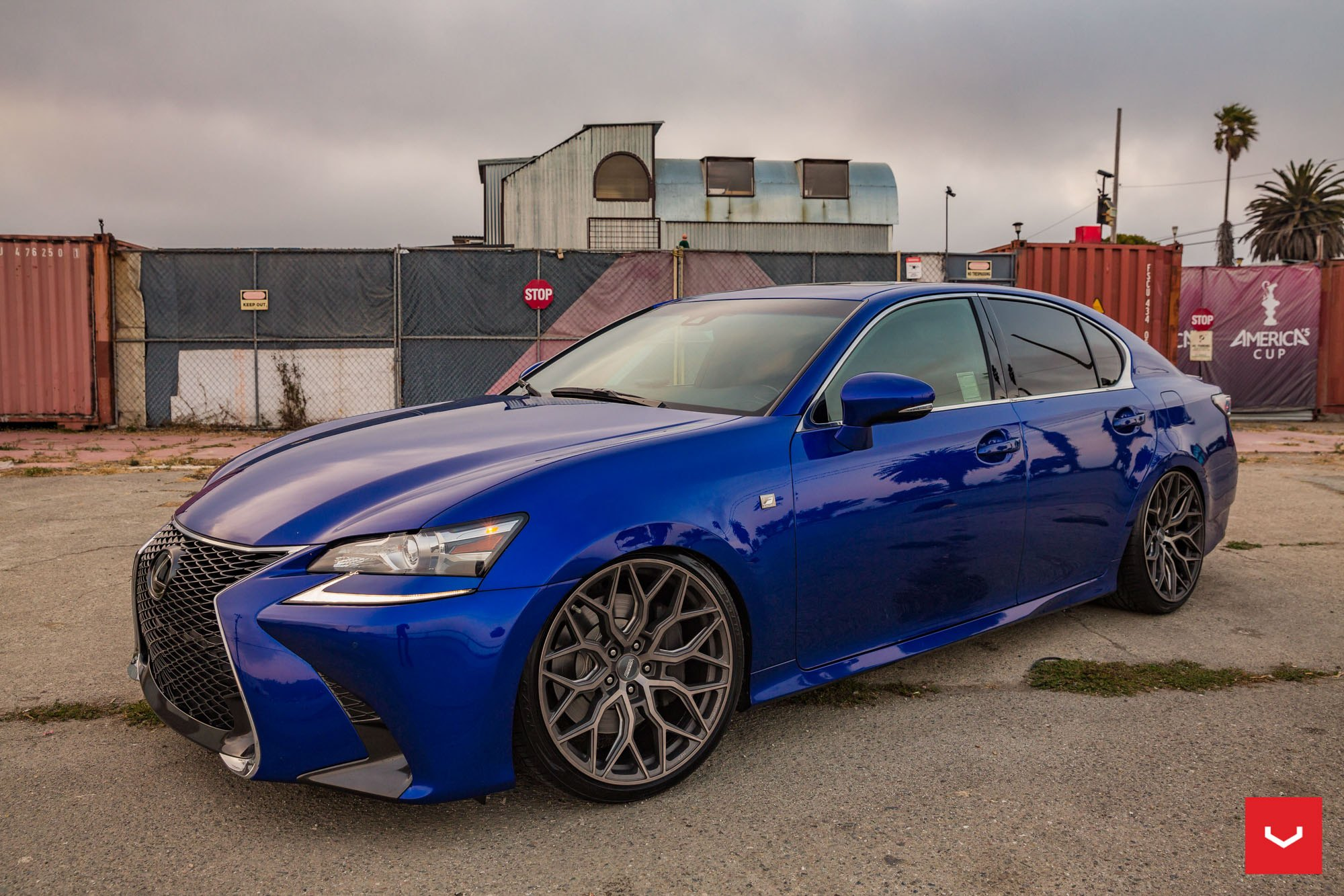 Blue Lexus GS with Vossen Forged Wheels - Photo by Vossen