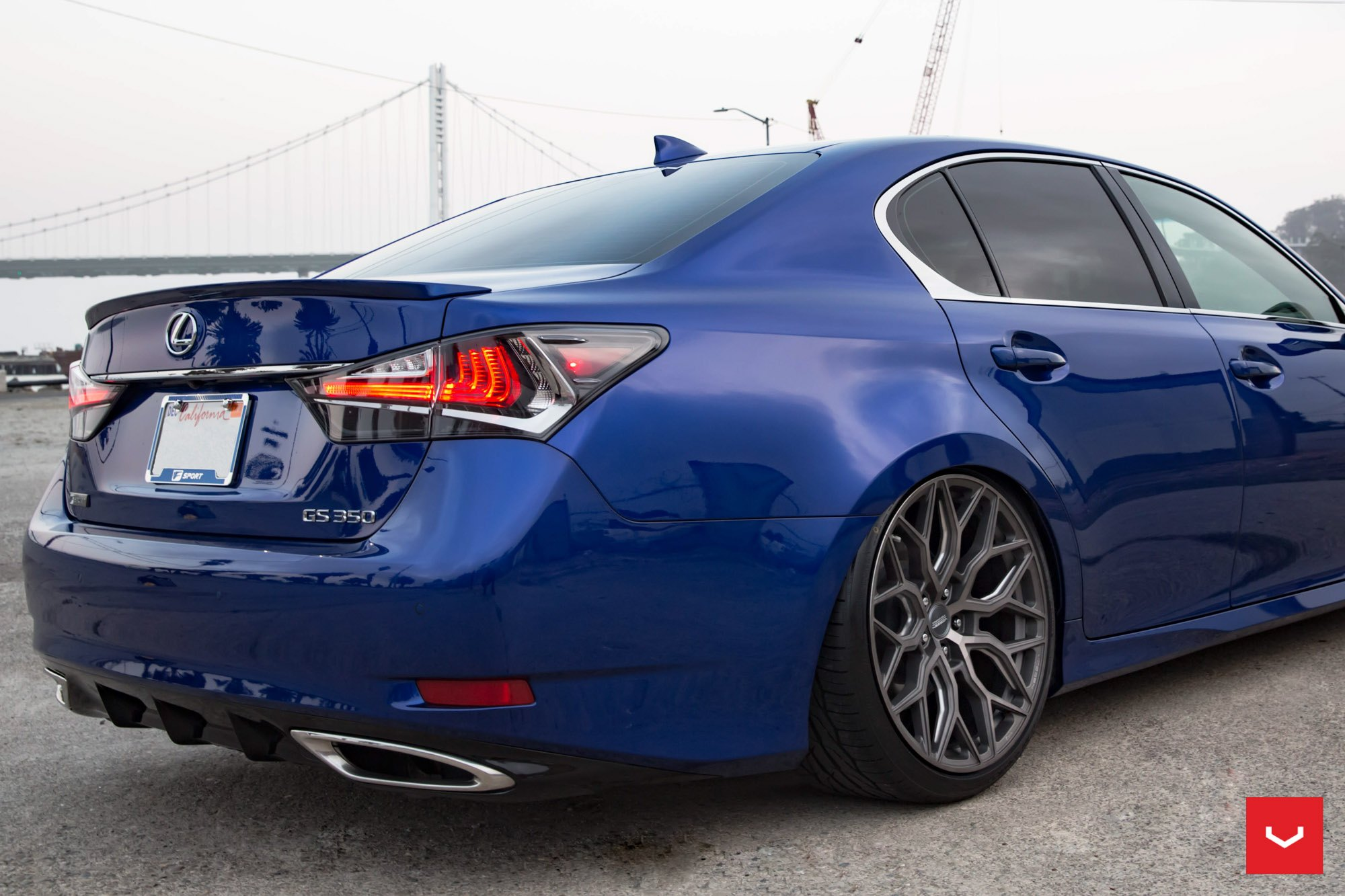 Blue Lexus GS 350 with Custom LED Taillights - Photo by Vossen