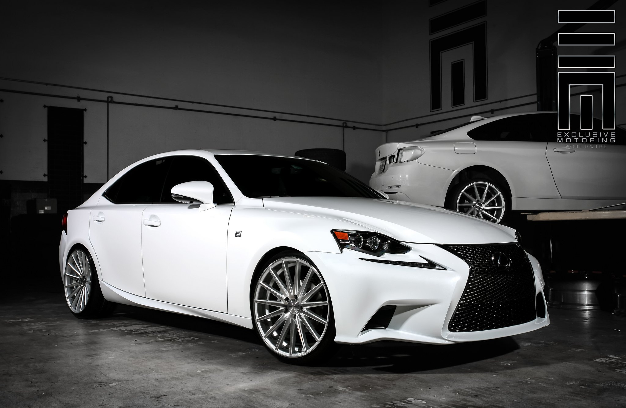 Diamond White Lexus Is250 F On Vossen Rims By Exclusive Motoring
