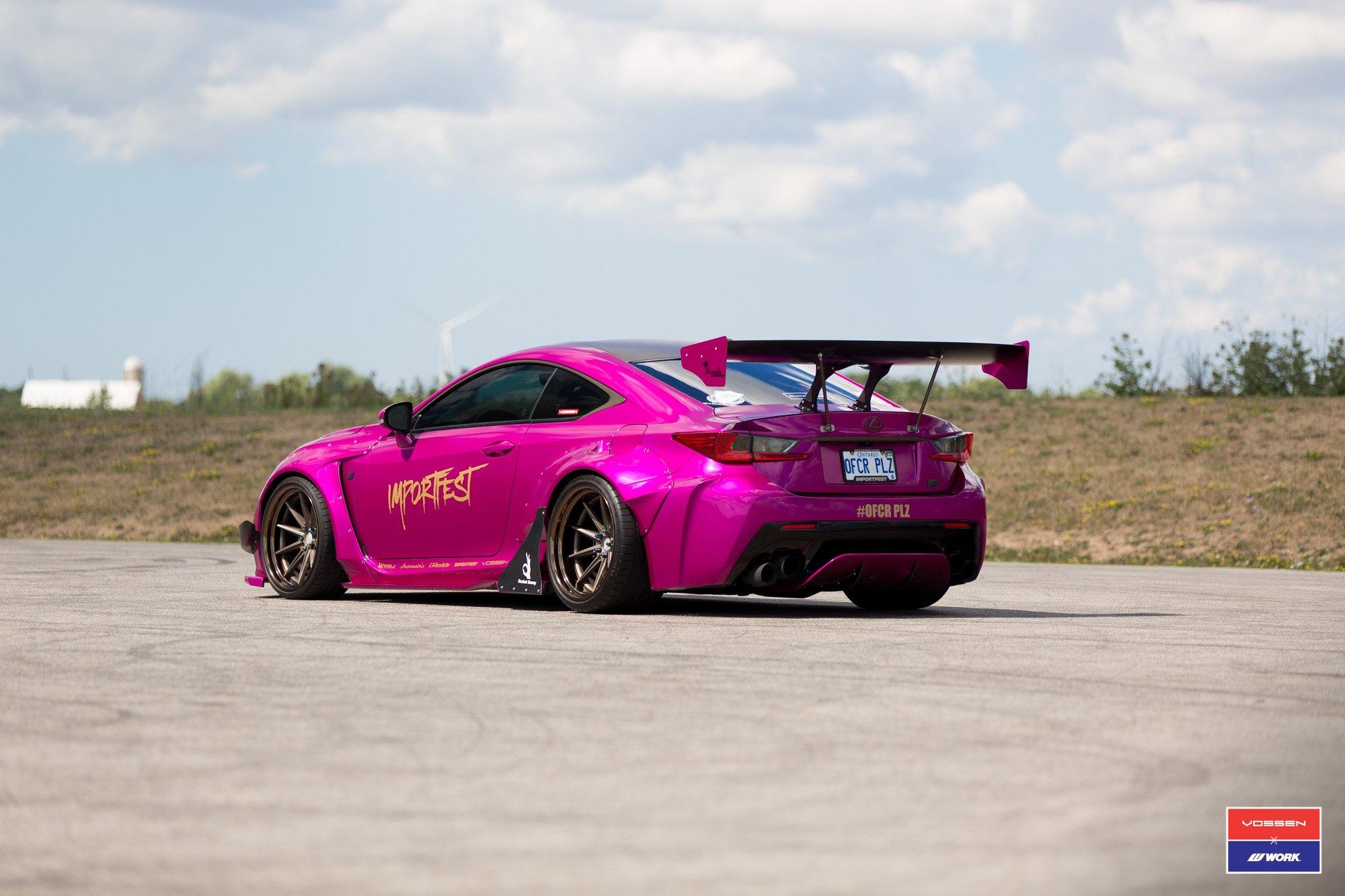 Rocket Bunny Wide Body Kit on Pink Lexus RC F — CARiD com