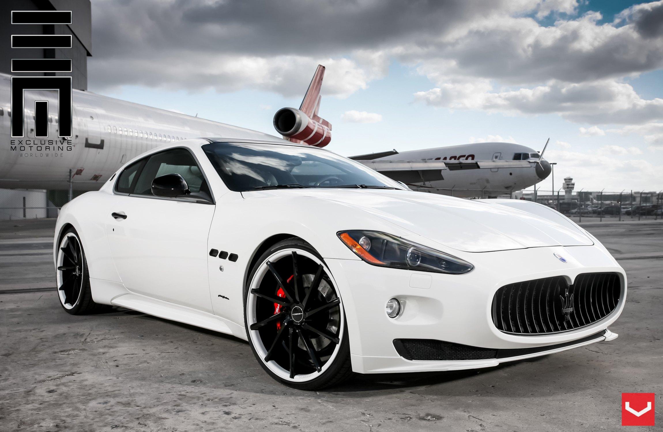 Custom White Maserati Granturismo With Black Grille Photo By Vossen