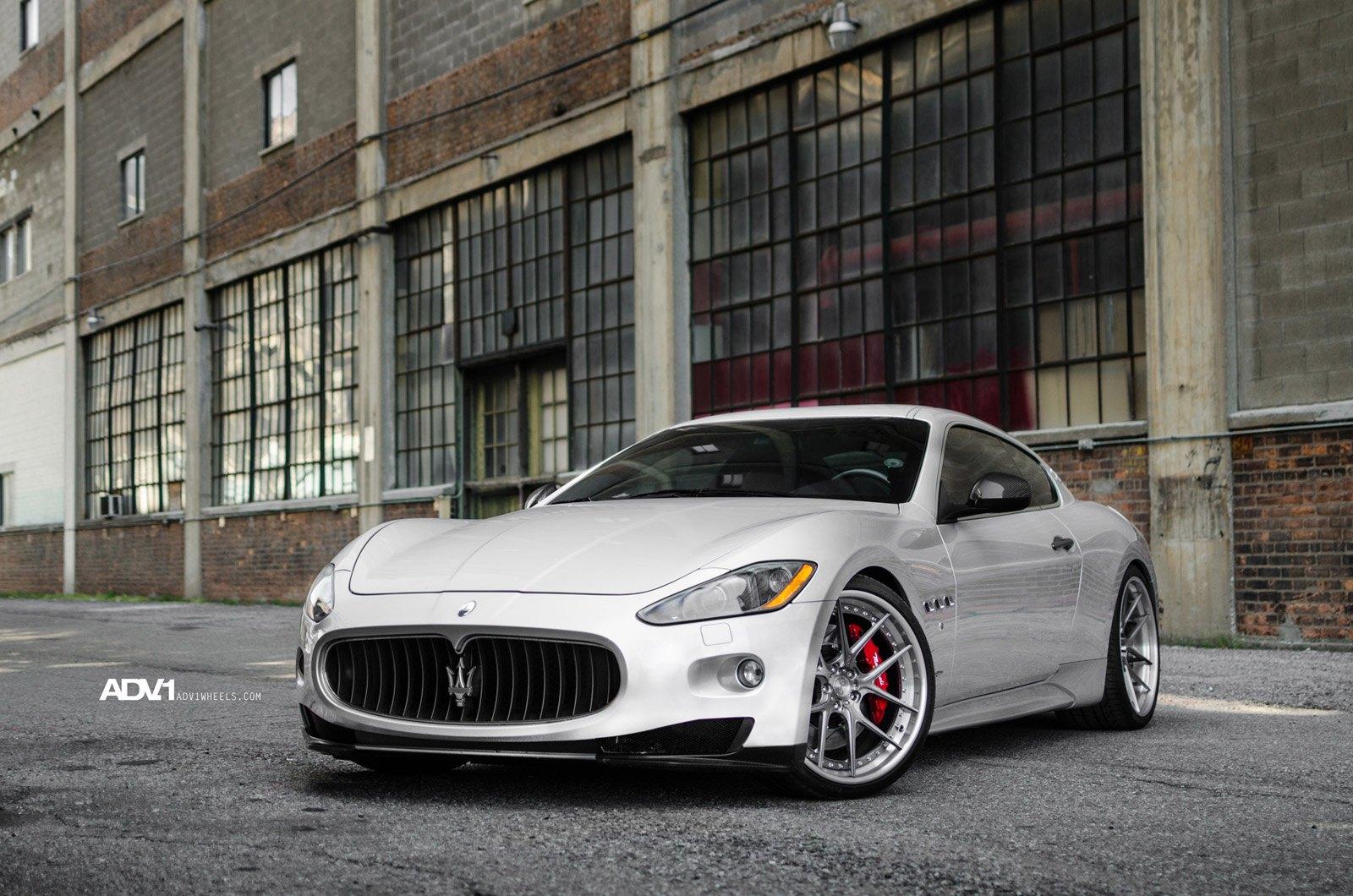 Custom Front Lip On Gray Maserati Granturismo Photo By Adv 1