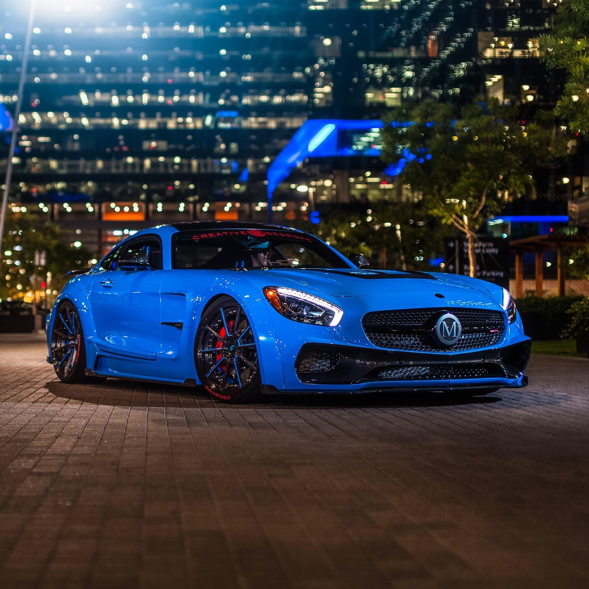 Custom Body Kit On Blue Mercedes Amg Gt Photo By Forgiato