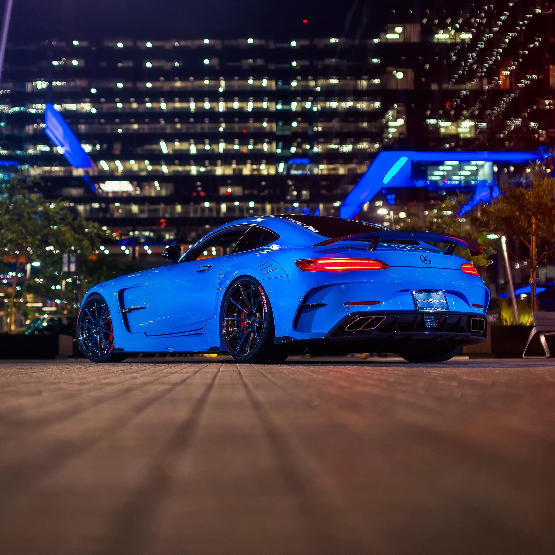 Blue Mercedes Amg Gt With Aftermarket Rear Diffuser Photo By Forgiato