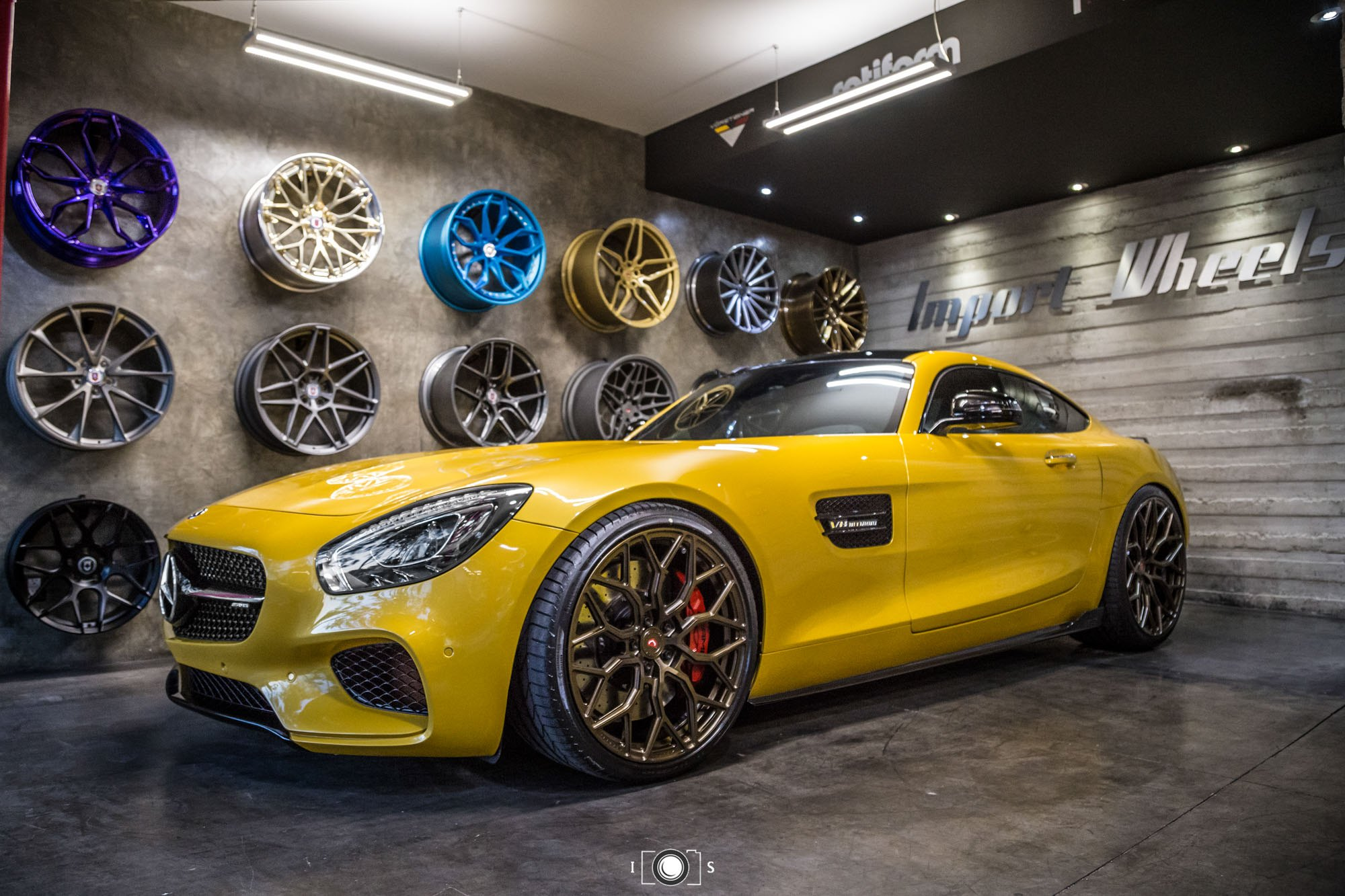 Yellow Mercedes AMG GT With Crystal Clear Headlights   Photo By Vossen