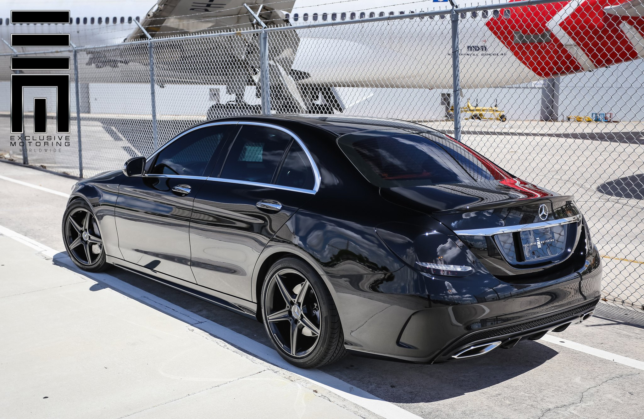 All black mercedes c class by exclusive motoring carid for Mercedes benz body shop miami