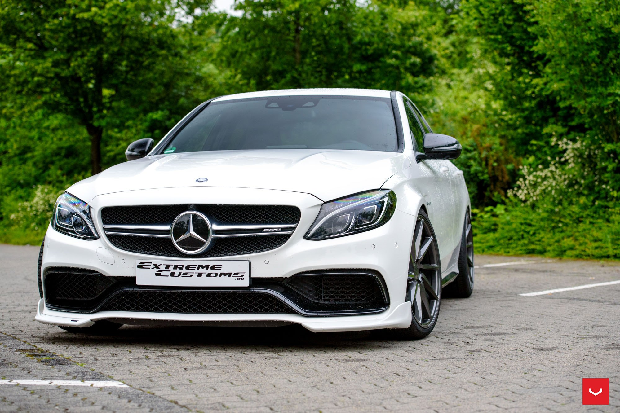 White Mercedes C Class Restyled by Extreme Customs — CARiD ...
