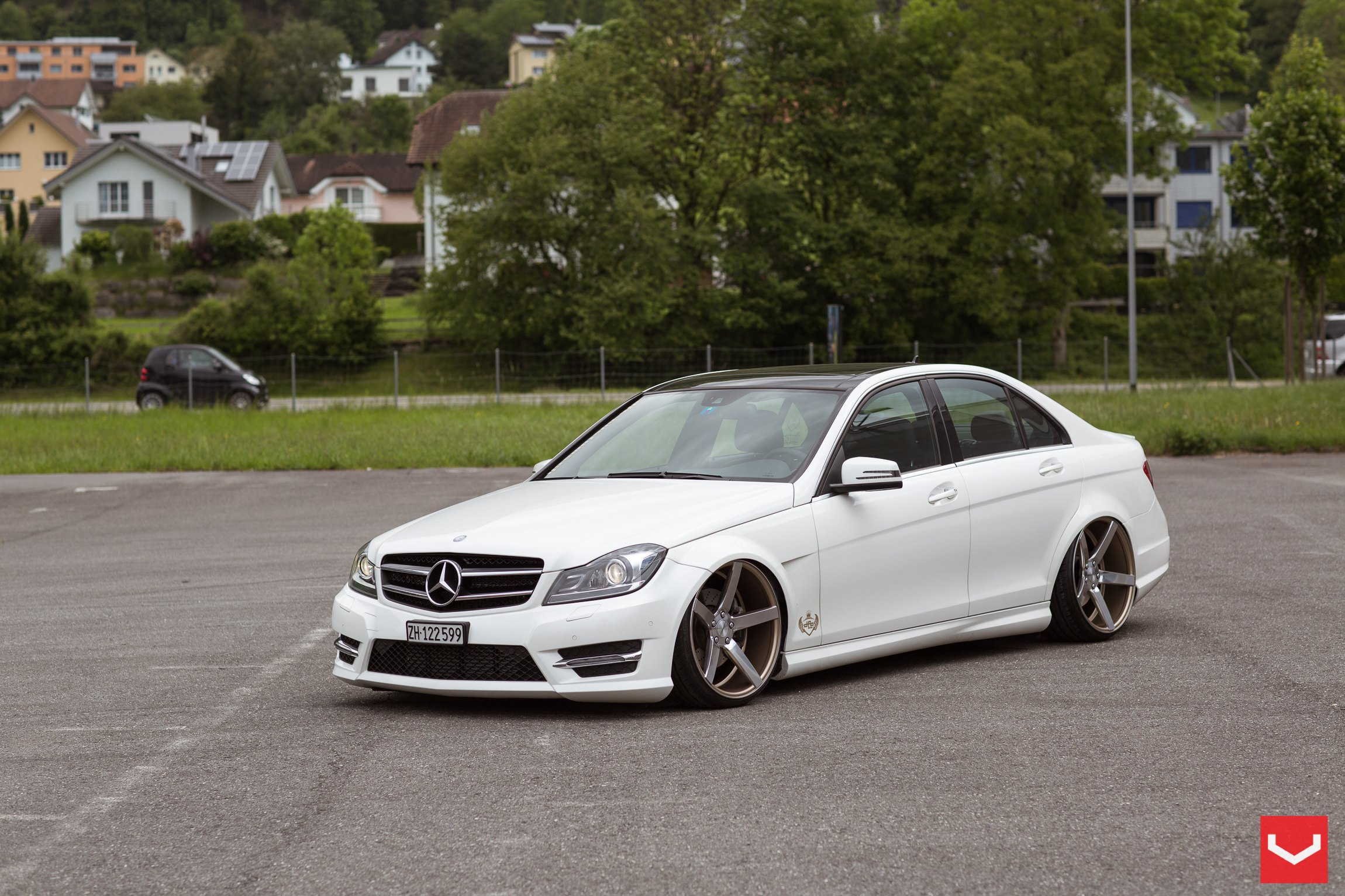 Stanced mercedes c class with a few aftermarket parts for Mercedes benz custom parts