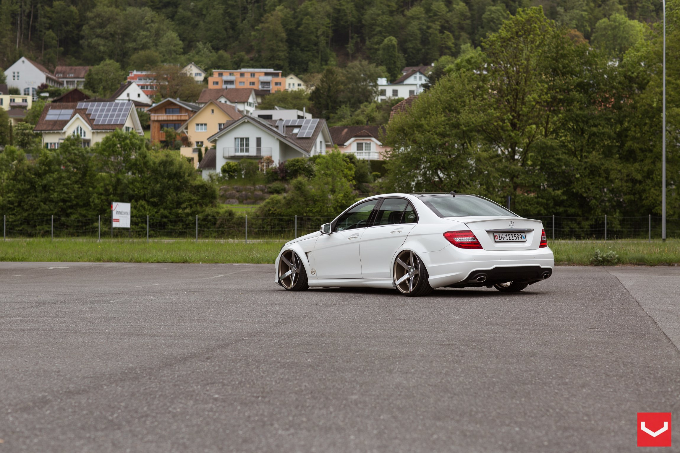 Stanced mercedes c class with a few aftermarket parts for Mercedes benz c250 performance upgrades
