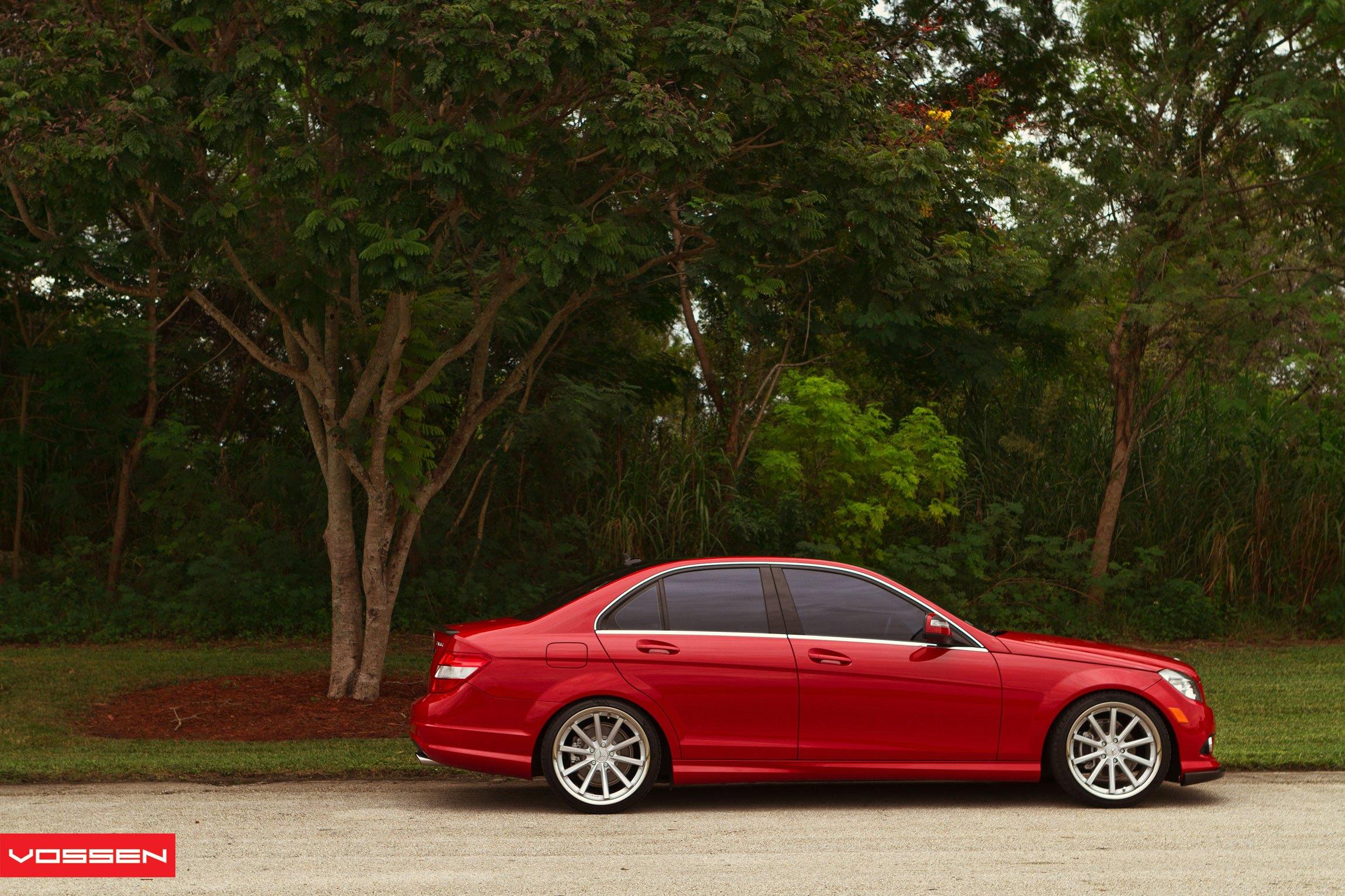 Download Mercedes Benz C350 2008 Red Wallpaper  Pics