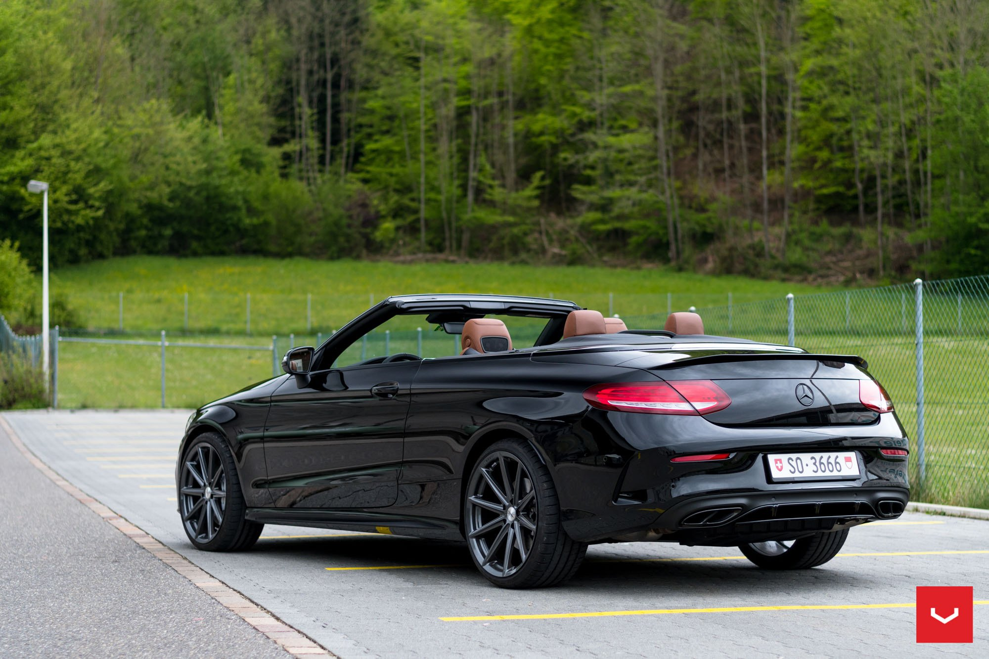 Stylish aftermarket parts on stunning convertible mercedes for Mercedes benz aftermarket performance parts