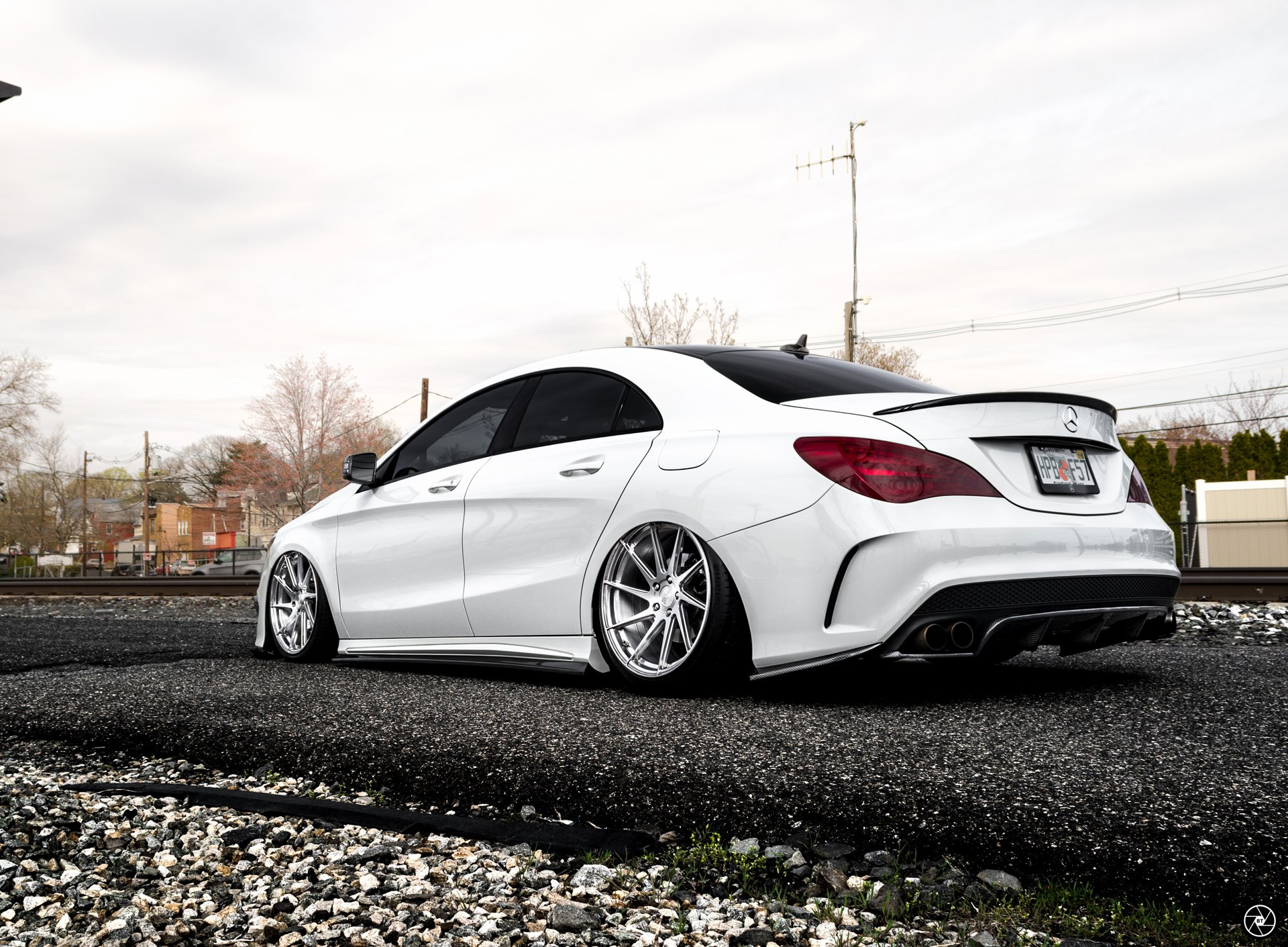white lowered mercedes cla class customized with exotic in mind gallery. Black Bedroom Furniture Sets. Home Design Ideas