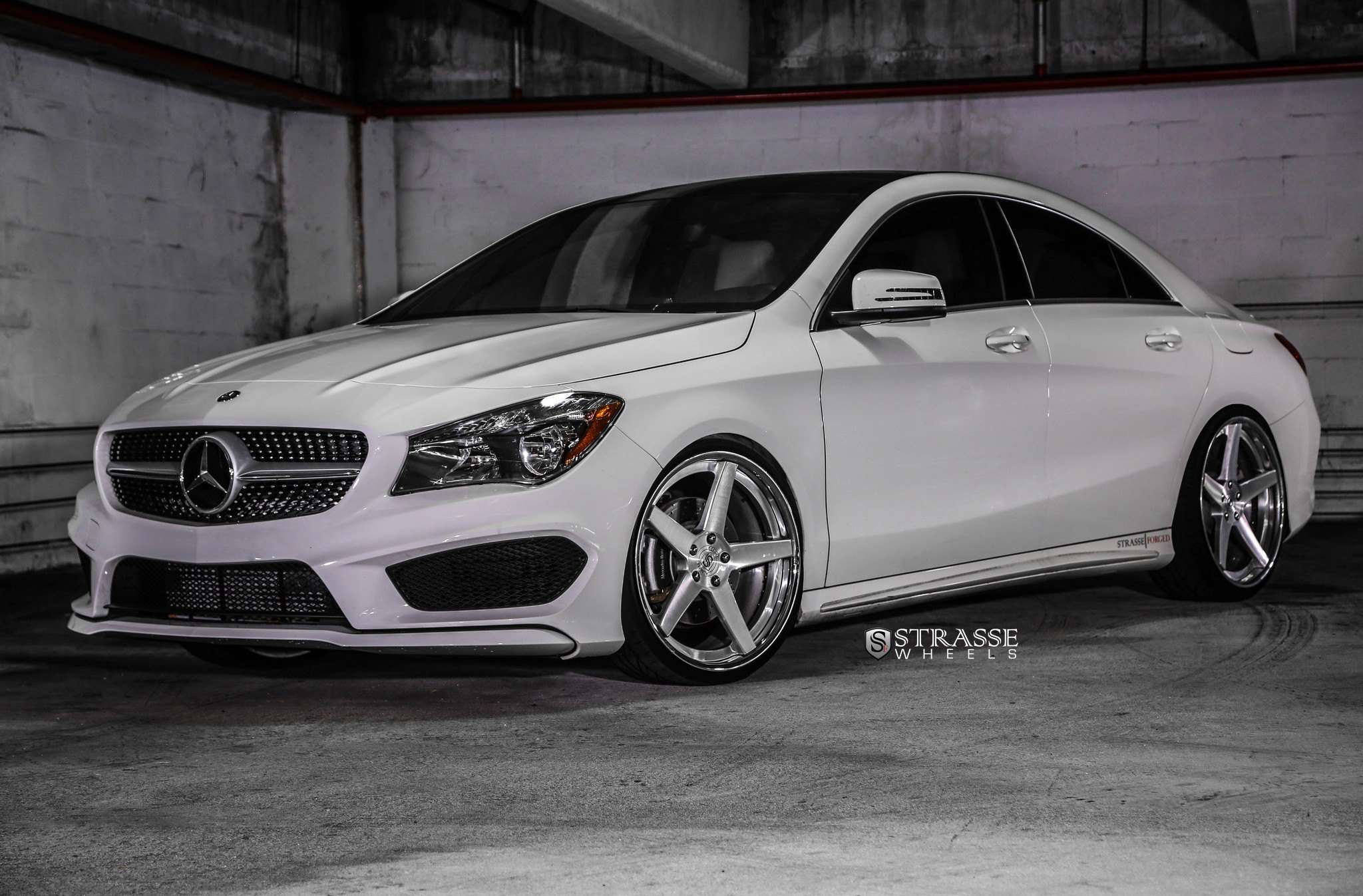custom white mercedes cla class shod in hankook tires gallery. Black Bedroom Furniture Sets. Home Design Ideas