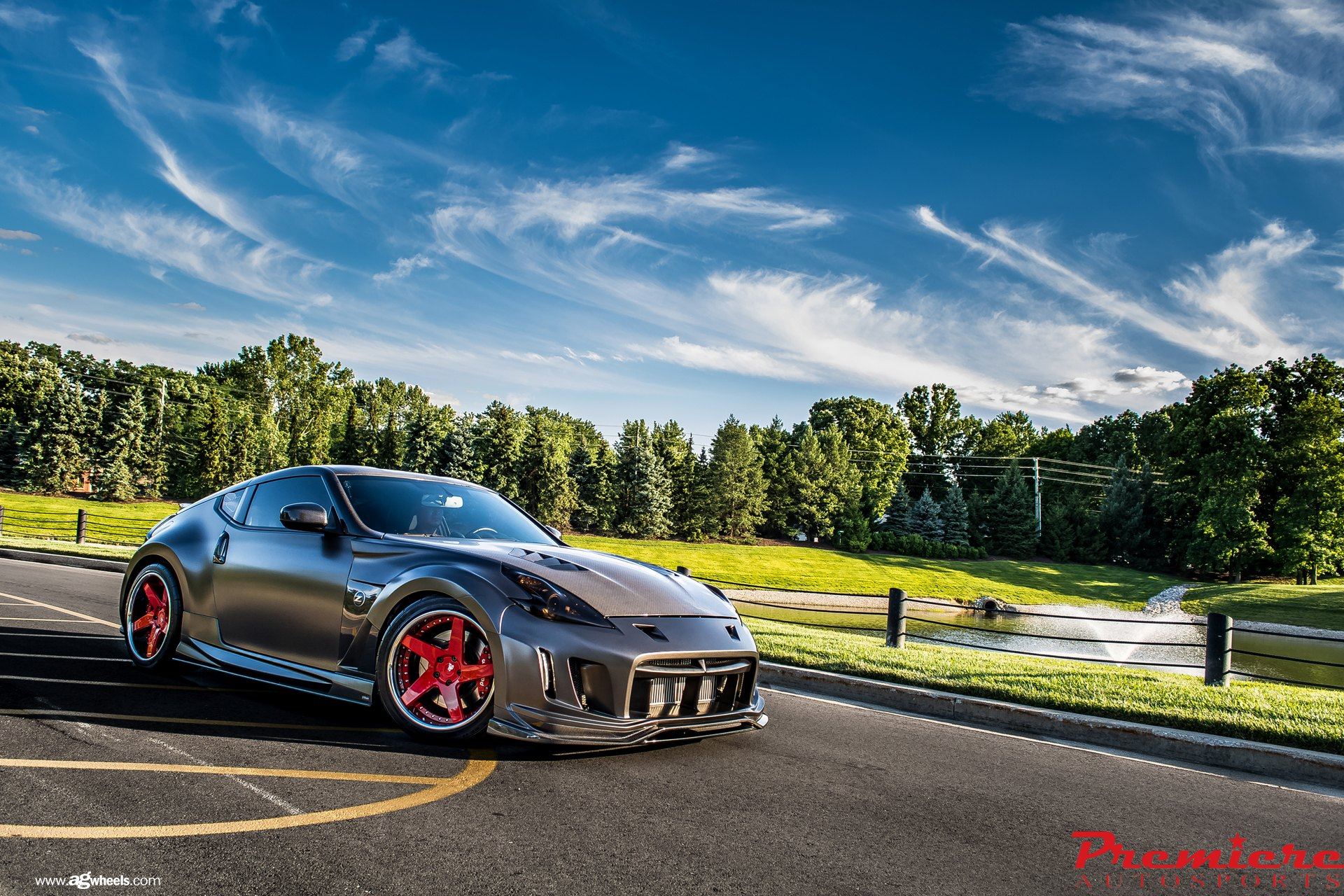 black matte 370z with a racing body kit by avant garde. Black Bedroom Furniture Sets. Home Design Ideas