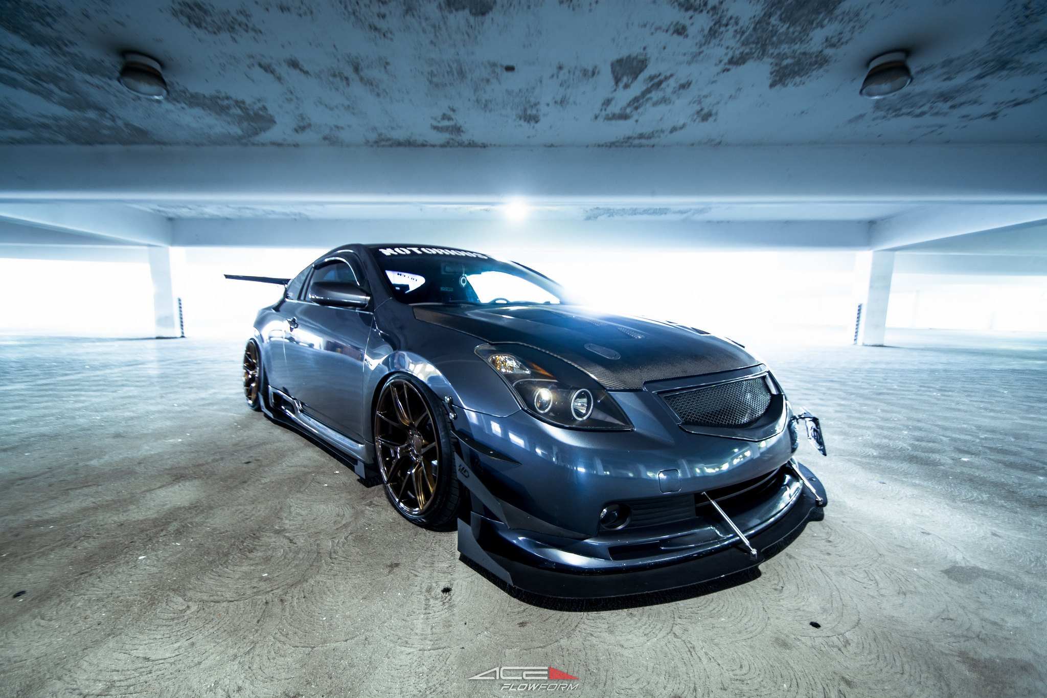 Modified Nissan Altima With Air Suspension And Sport Body Kit   Photo By TSW