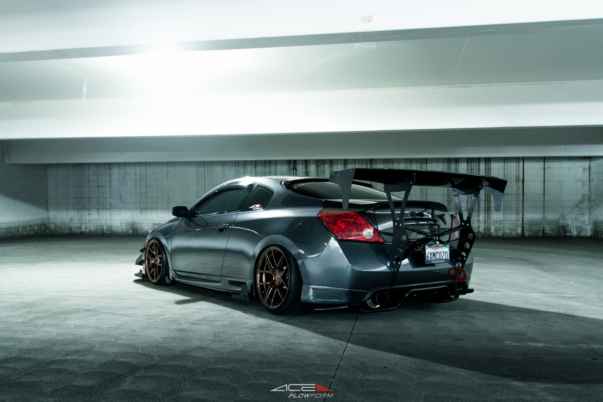 Modified Nissan Altima With Air Suspension And Sport Body