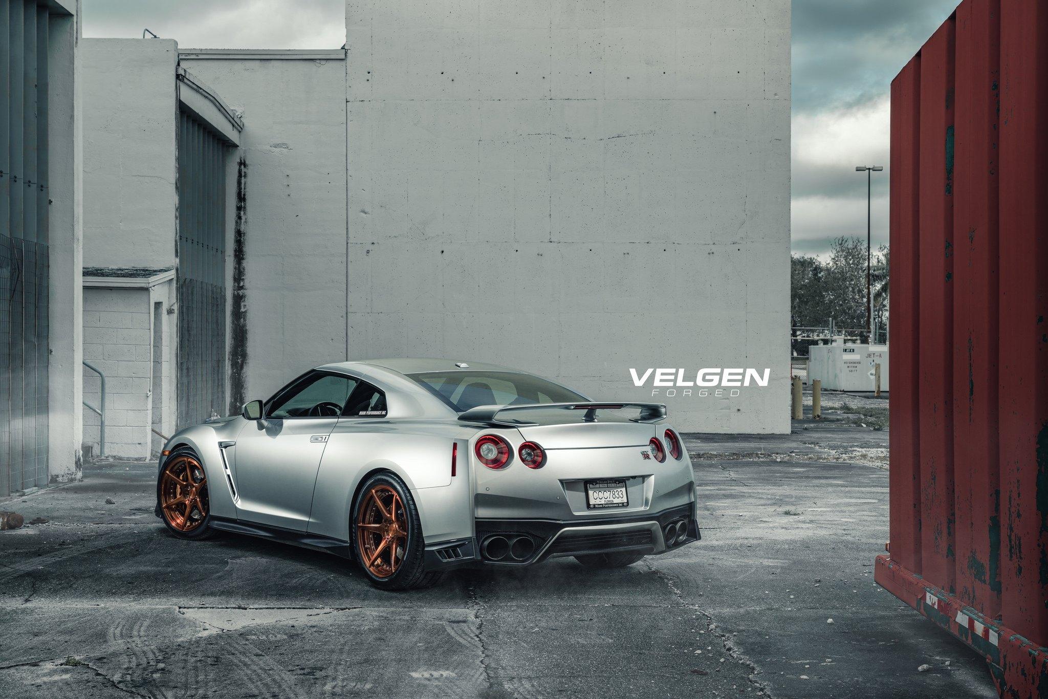 Velgen Forged Rims Adorning Silver Nissan Gt R Caridcom