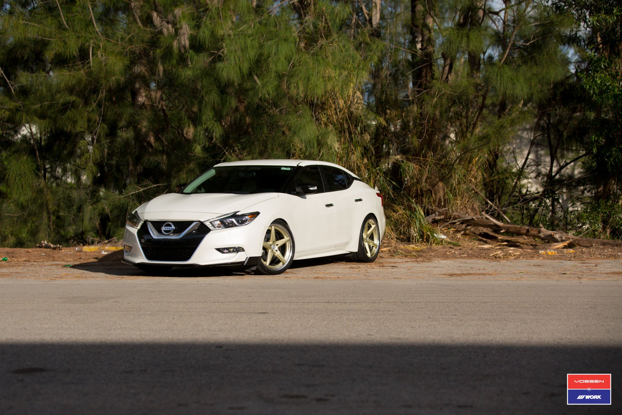 Vws3 Custom Wheels By Vossen On Lowered Nissan Maxima Carid Com