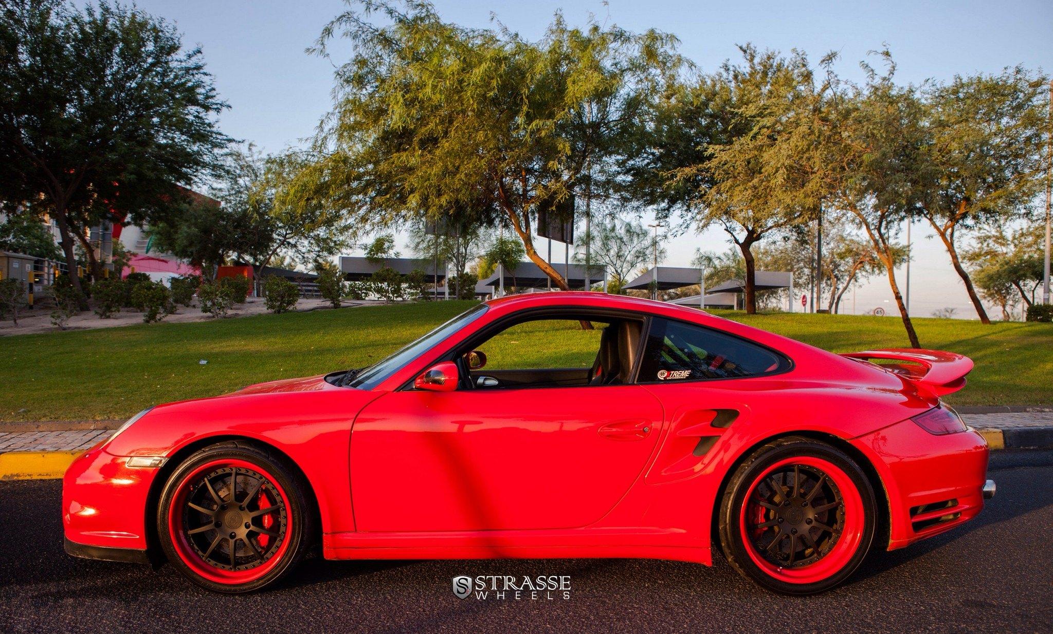 Red Porsche 911 Looks Dressy With Matte Black Strasse