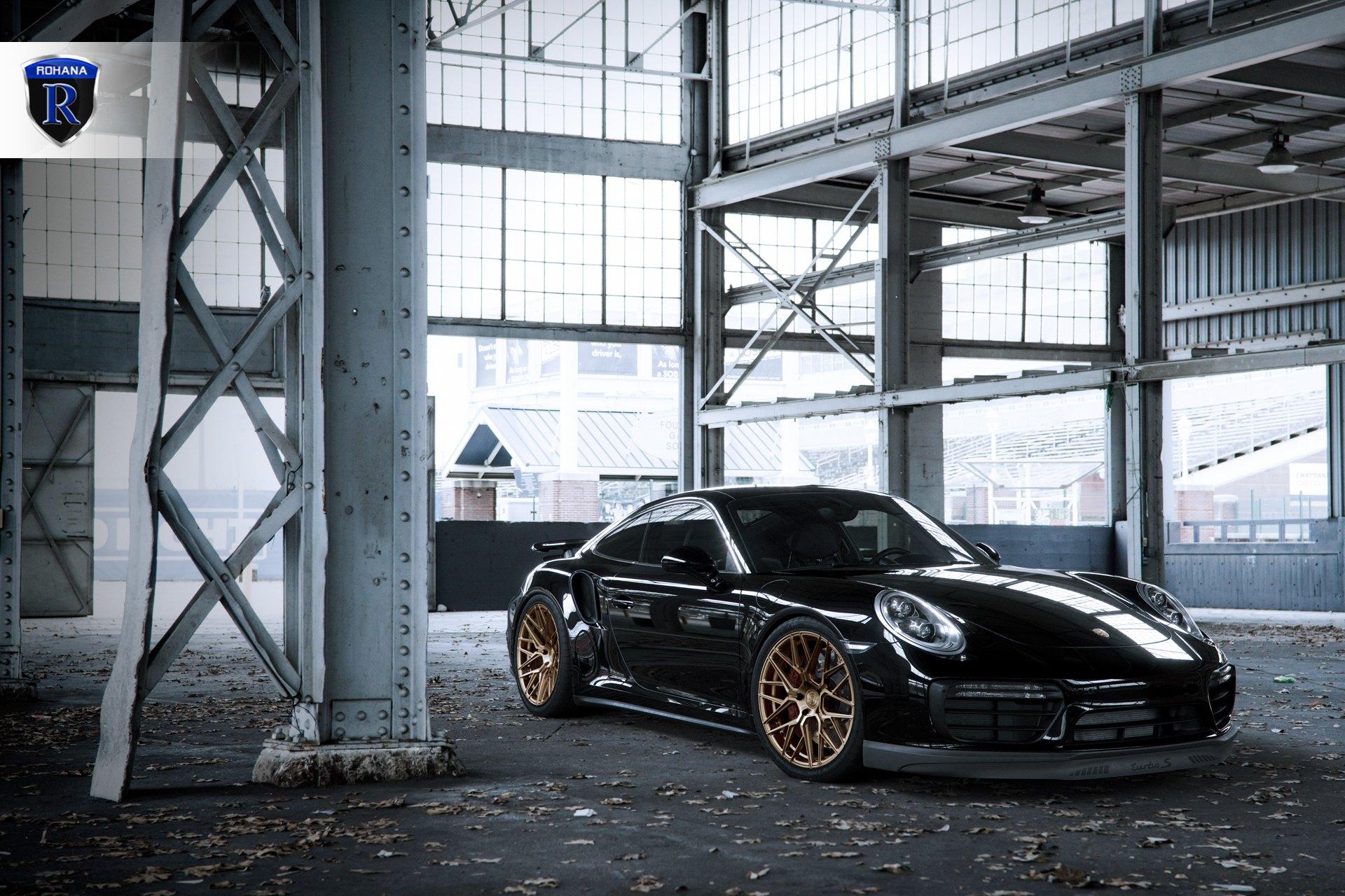 Elegant And Upscale Black Porsche 911 Boasting Bronze Rohana Wheels Carid Com Gallery