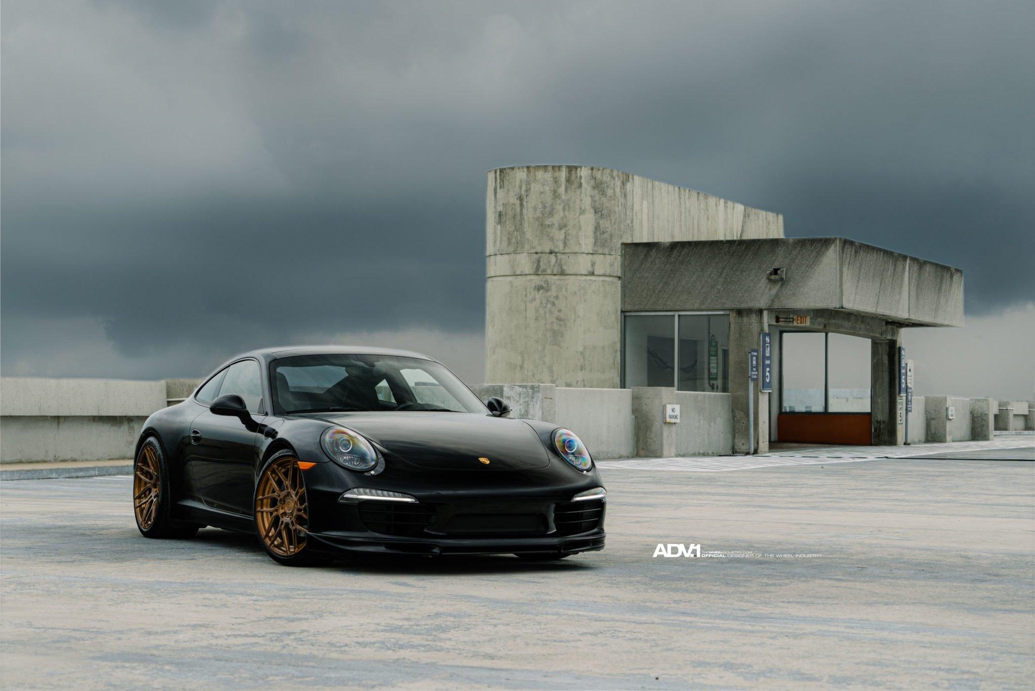 Clean Black Porsche 911 Carrera On Forged Custom Wheels Photo By Adv 1