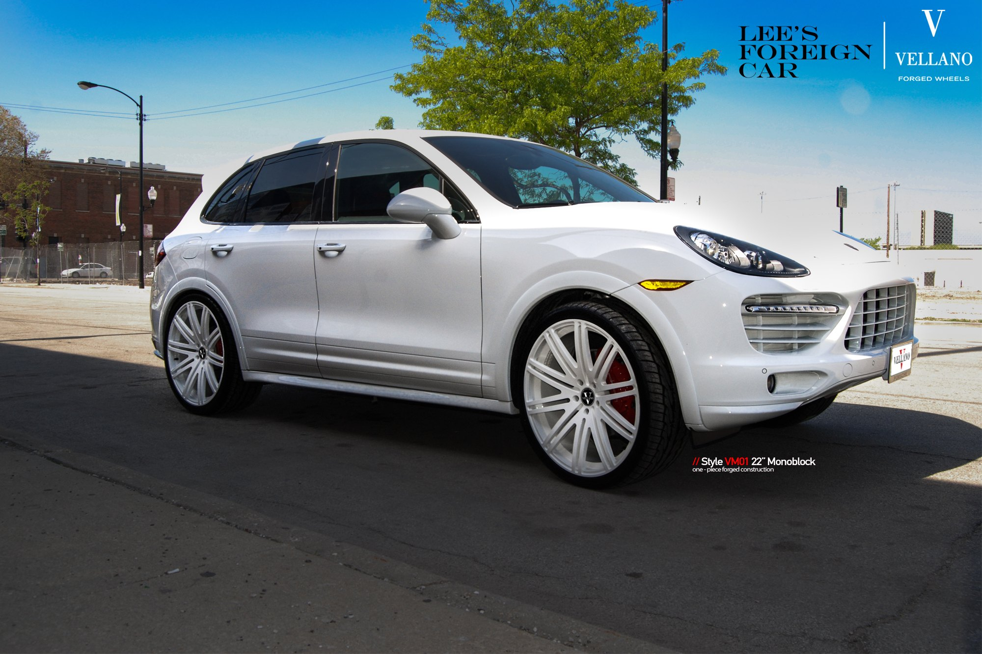 White On White Porsche Cayenne On Color Matched Rims Carid Com Gallery