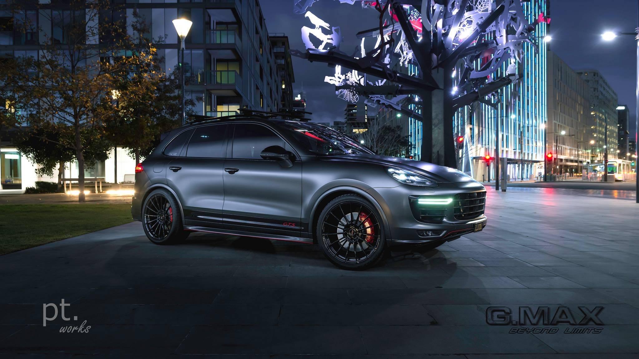 Stunning Matte Black Porsche Cayenne Gts Carid Com Gallery